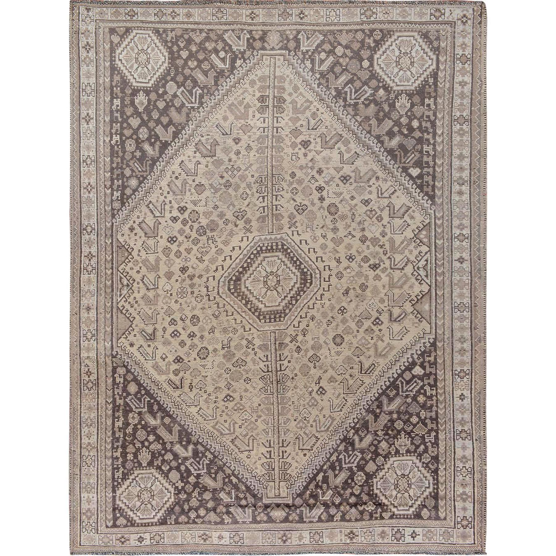 Fetneh Collection And Vintage Overdyed Collection Hand Knotted Ivory Rug No: 1115212