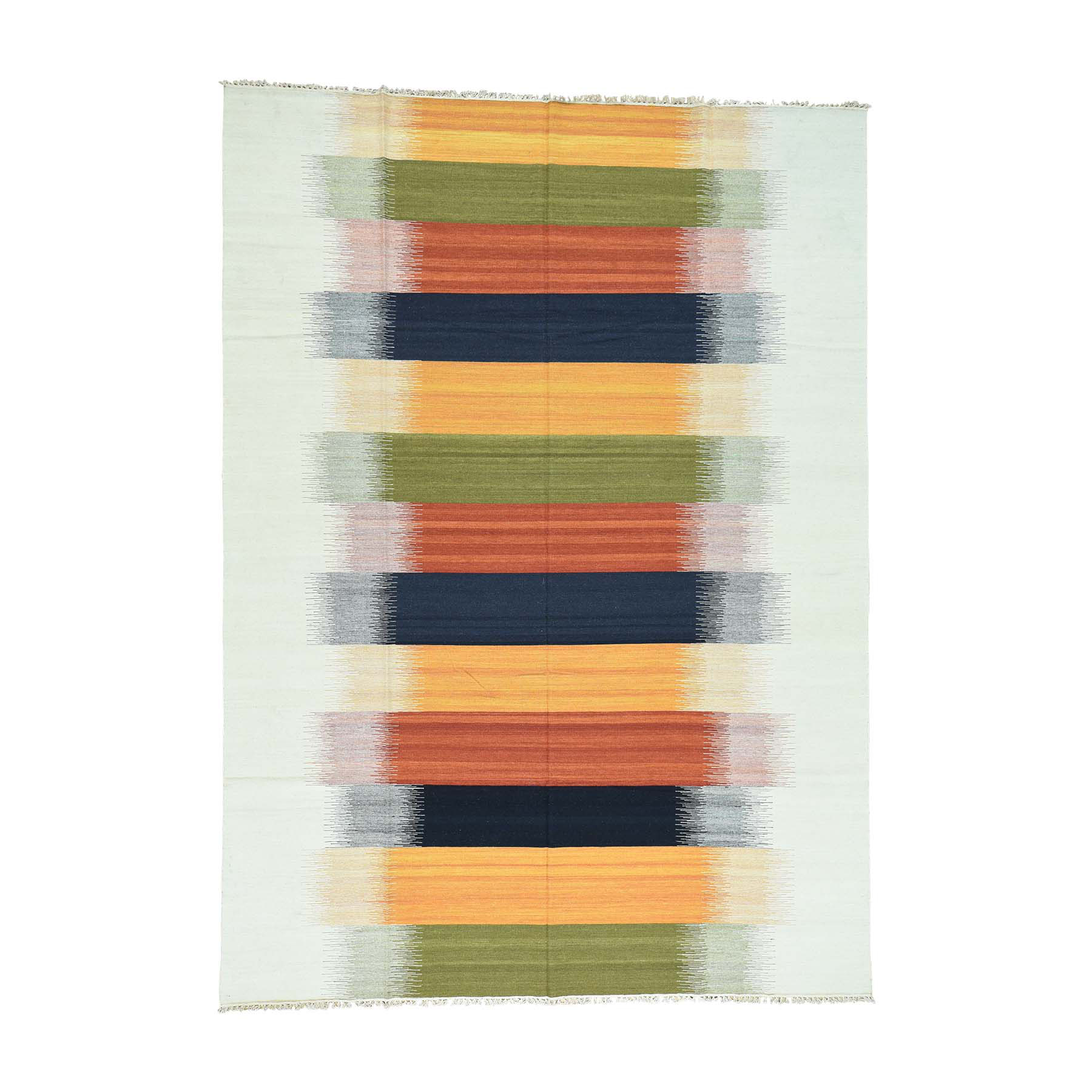 Fine Kilim Collection Hand Woven Multicolored Rug No: 0163620
