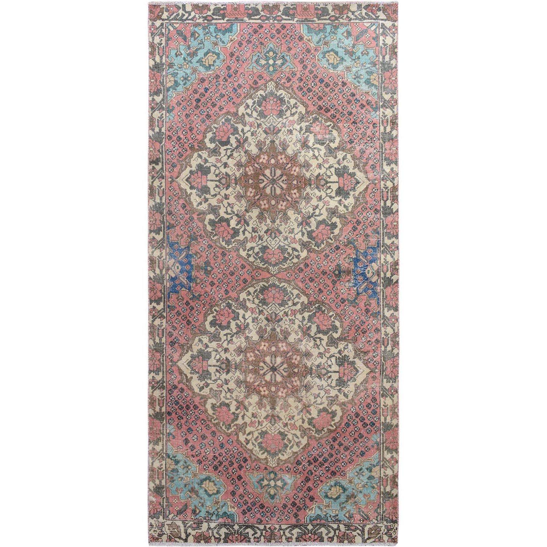 Fetneh Collection And Vintage Overdyed Collection Hand Knotted Pink Rug No: 01115318