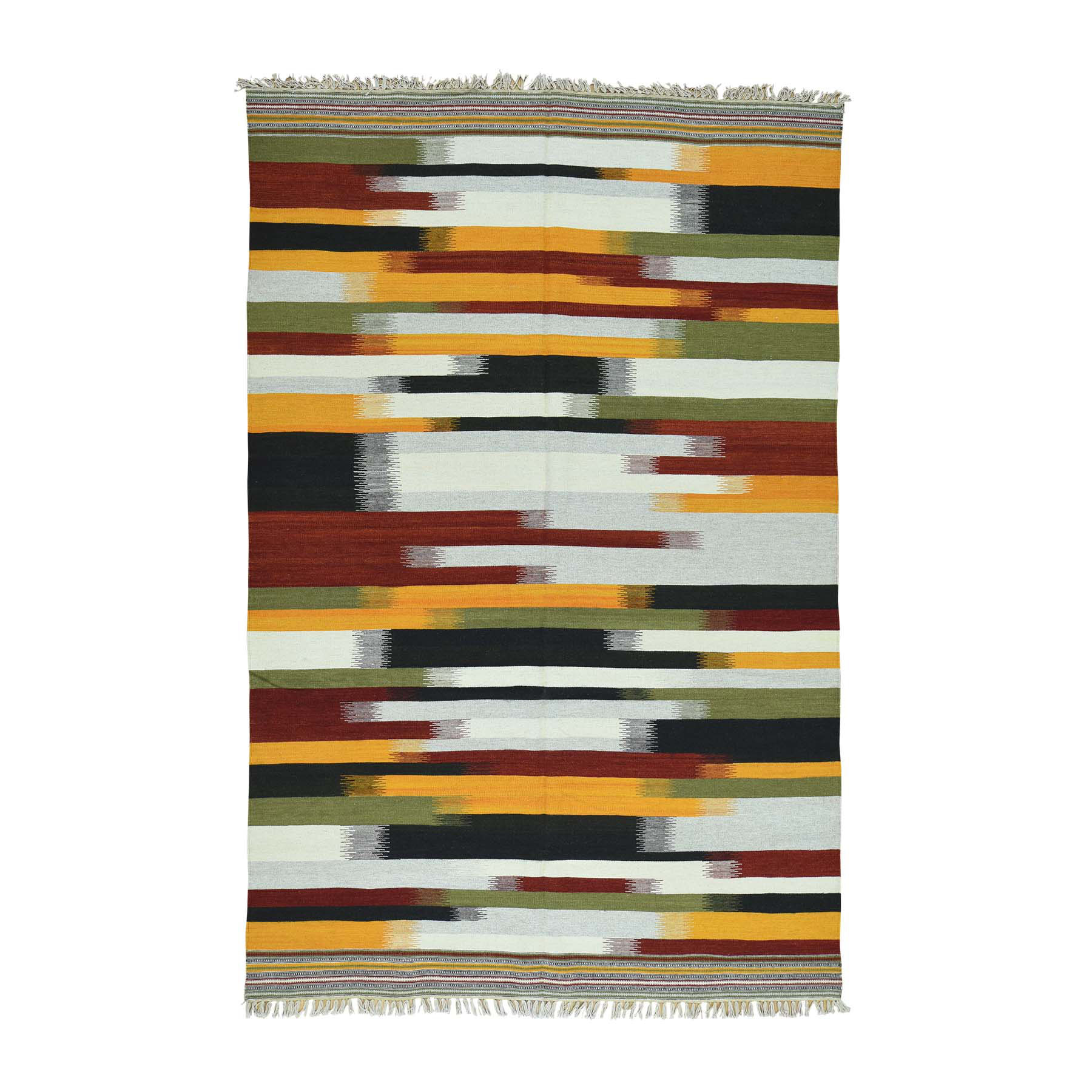 Fine Kilim Collection Hand Woven Multicolored Rug No: 0163642