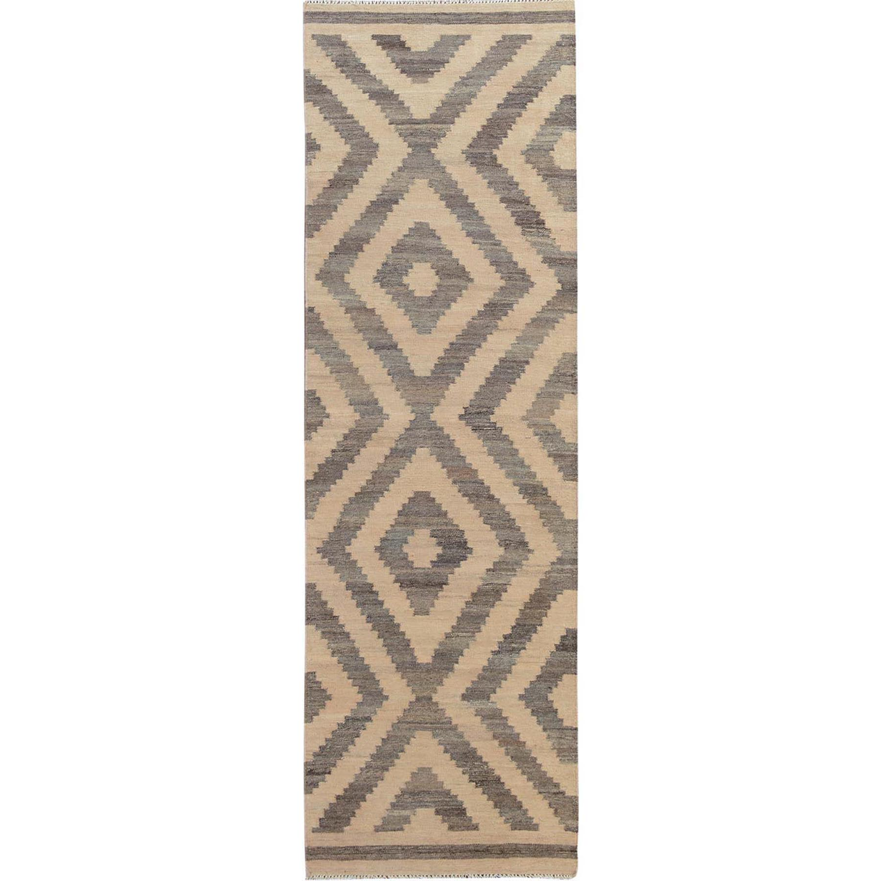 Fine Kilim Collection Hand Woven Ivory Rug No: 01114944