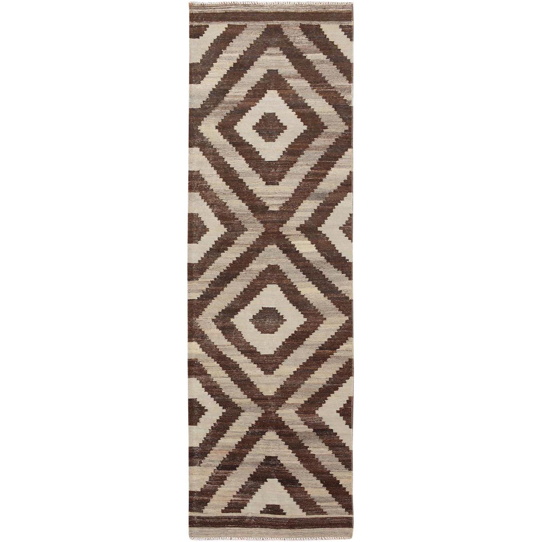 Fine Kilim Collection Hand Woven Brown Rug No: 01115166
