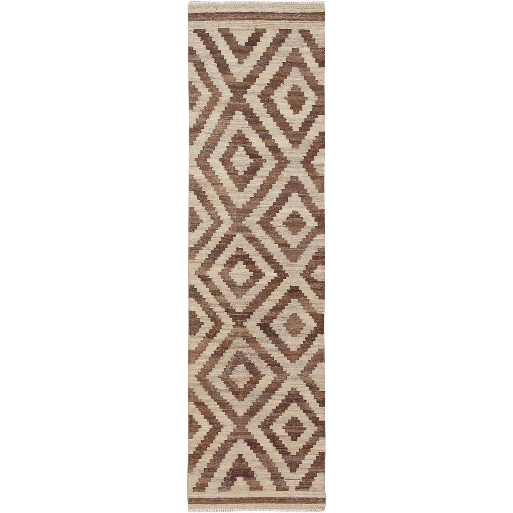 Fine Kilim Collection Hand Woven Brown Rug No: 01115170