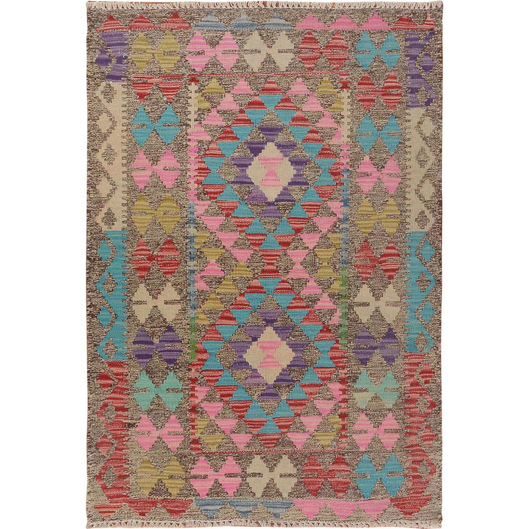 Fine Kilim Collection Hand Woven Red Rug No: 01115134