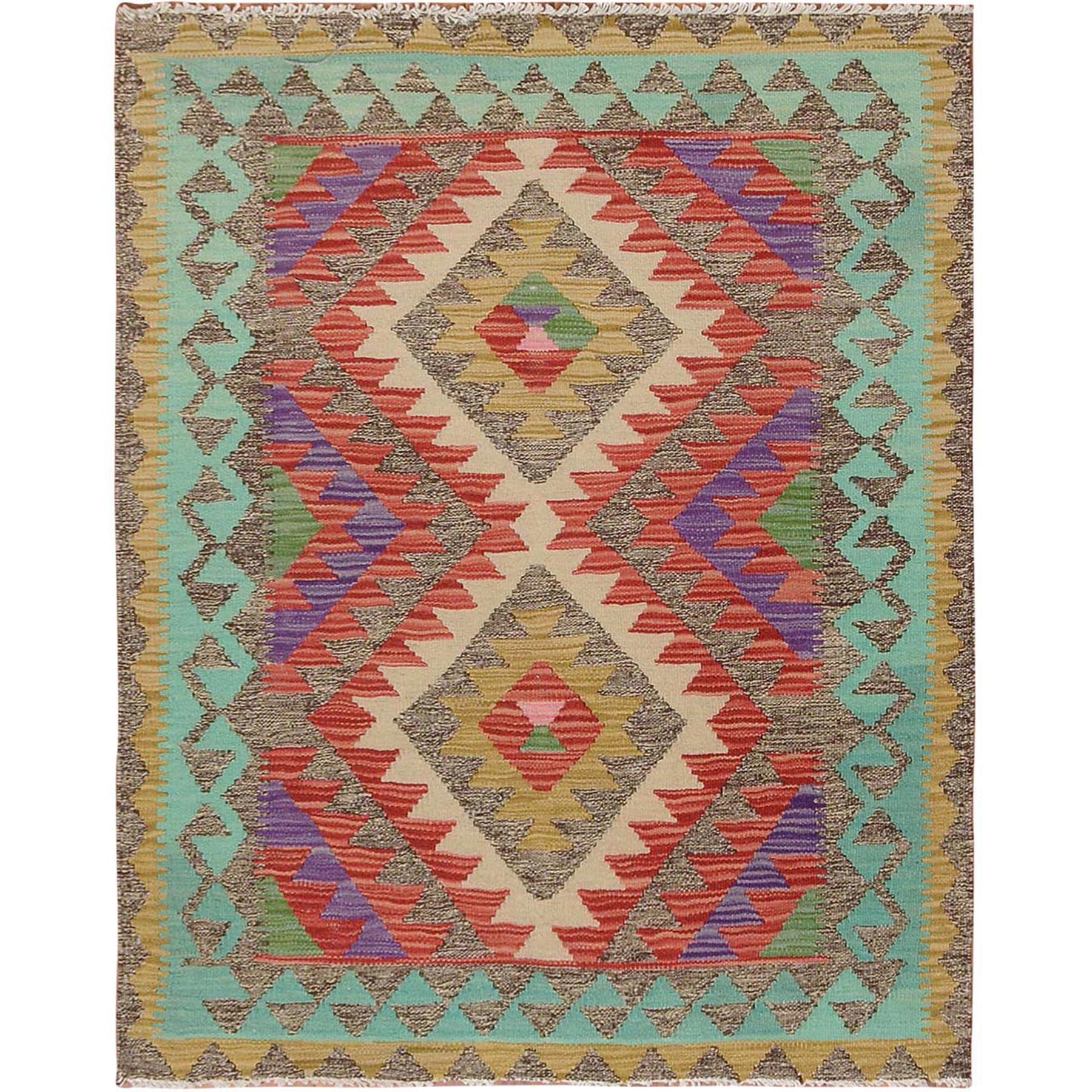 Fine Kilim Collection Hand Woven Red Rug No: 1115142
