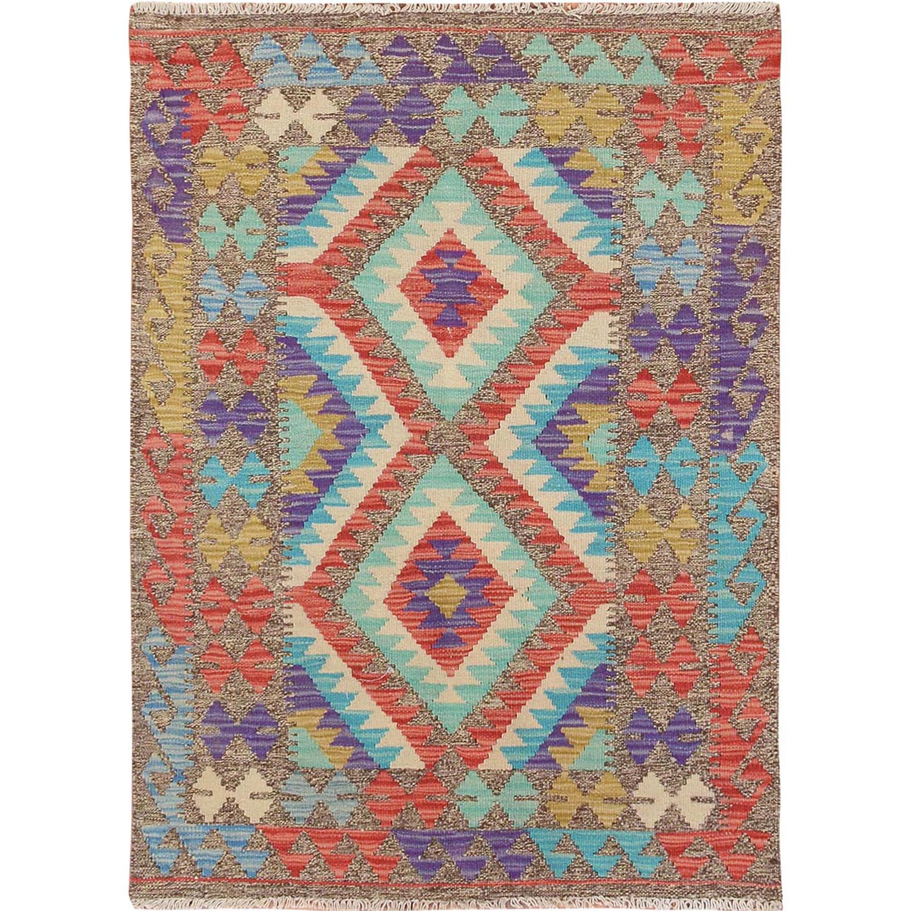 Fine Kilim Collection Hand Woven Green Rug No: 01115144