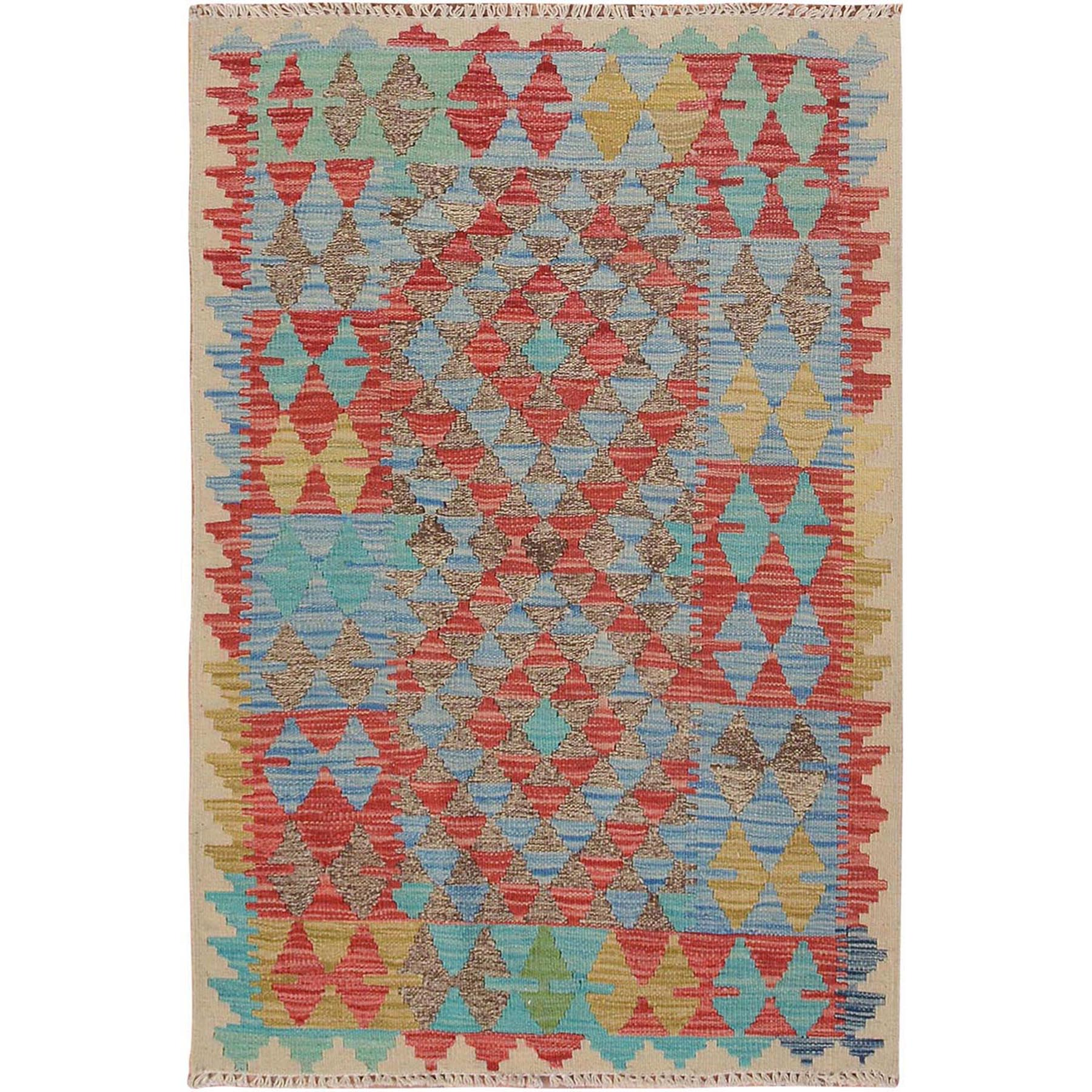 Fine Kilim Collection Hand Woven Red Rug No: 01115148