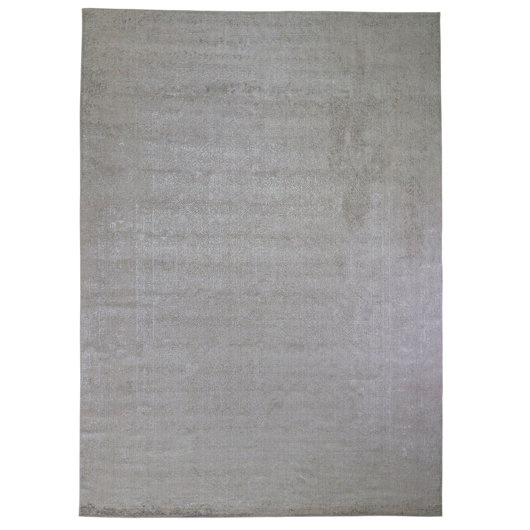 Mid Century Modern Collection Hand Loomed Beige Rug No: 198722