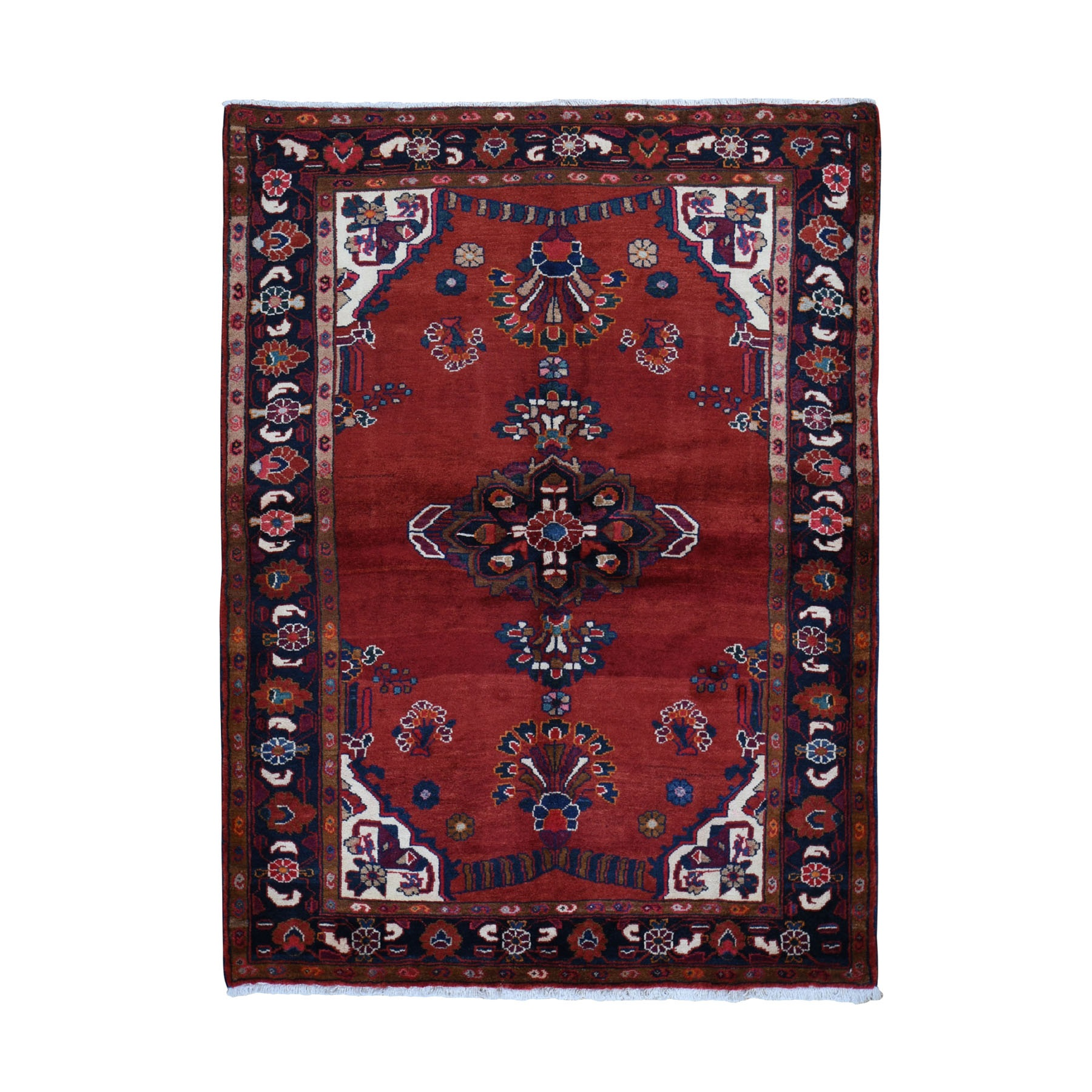 Classic Persian Collection Hand Knotted Red Rug No: 0199386