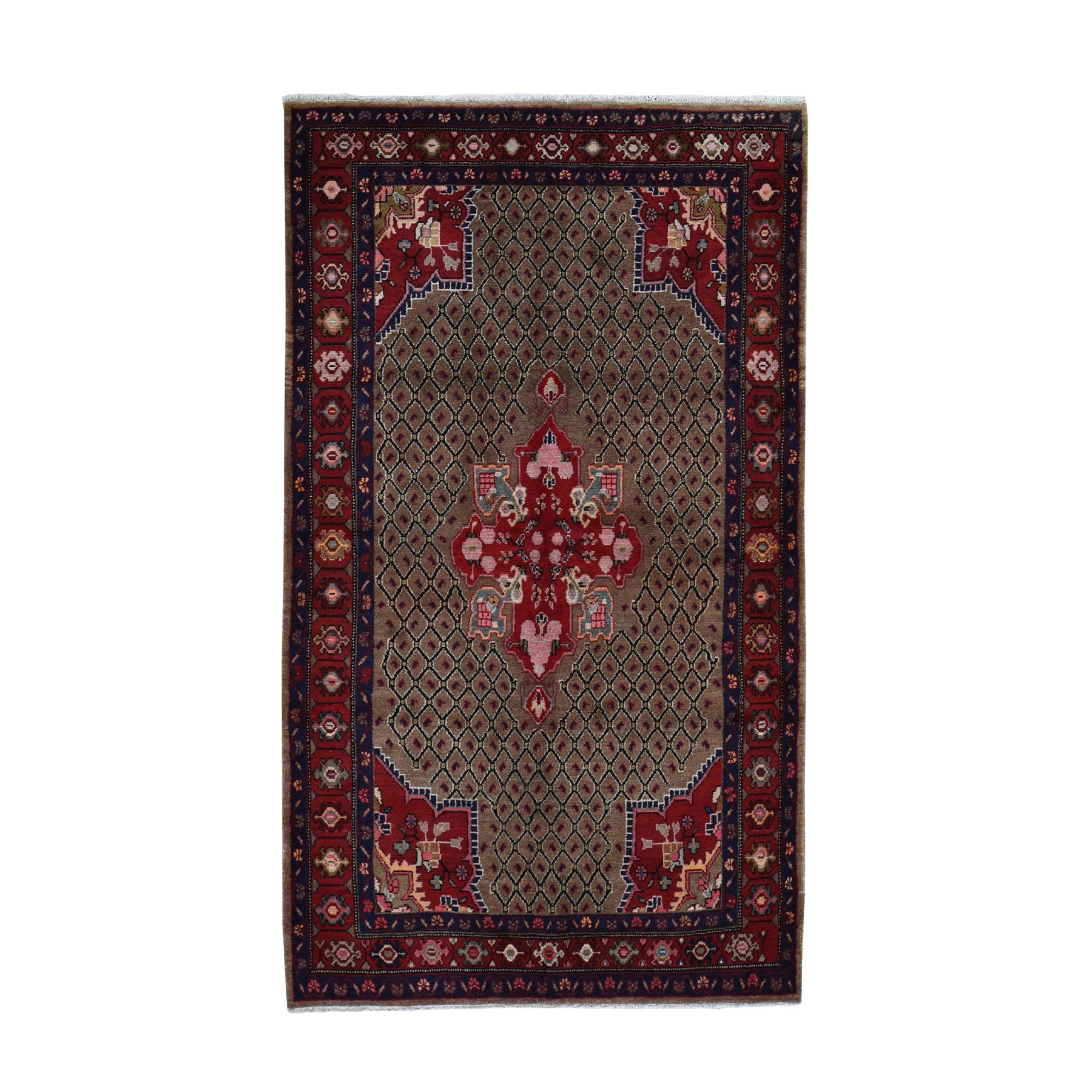 Classic Persian Collection Hand Knotted Brown Rug No: 0199390
