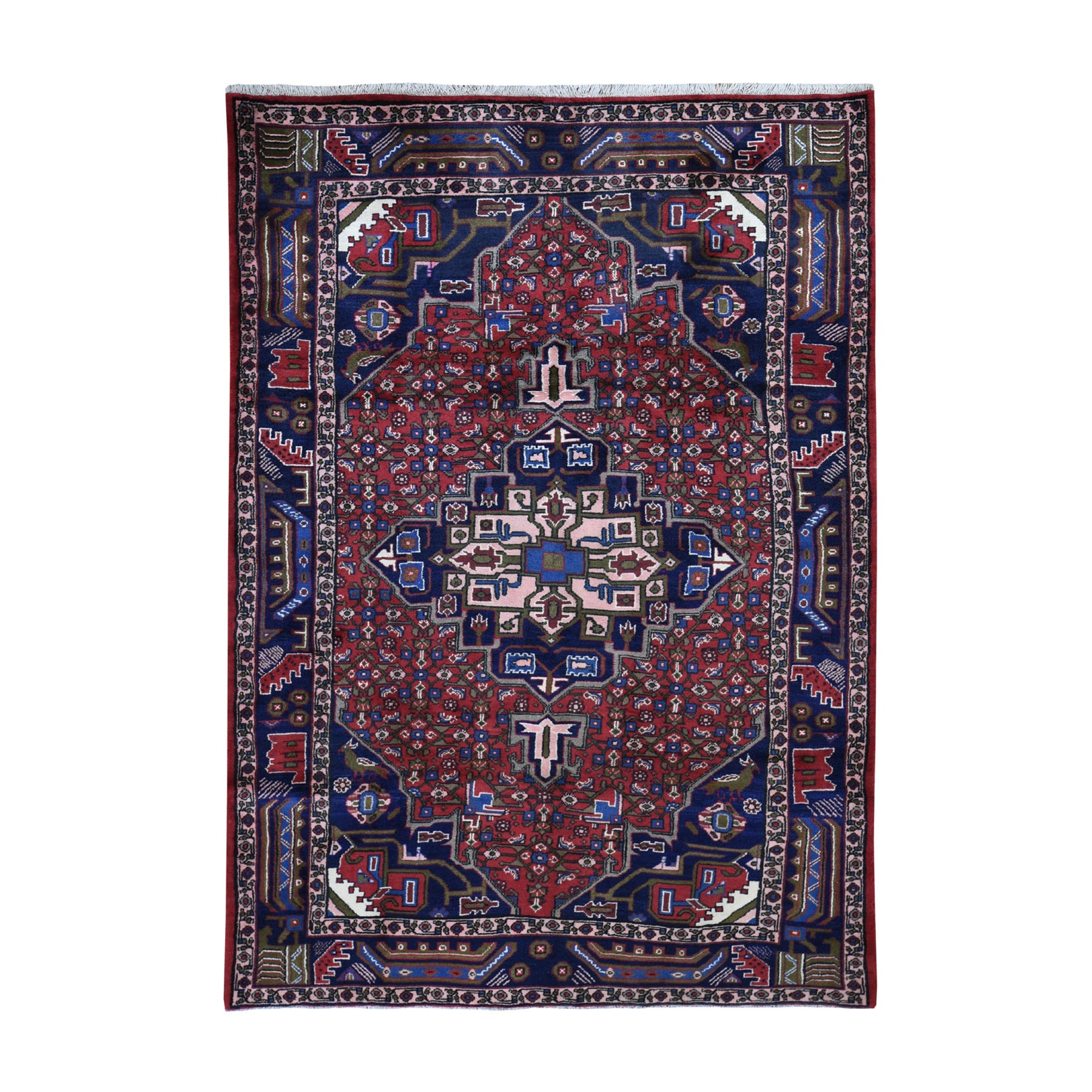 Classic Persian Collection Hand Knotted Red Rug No: 0199400