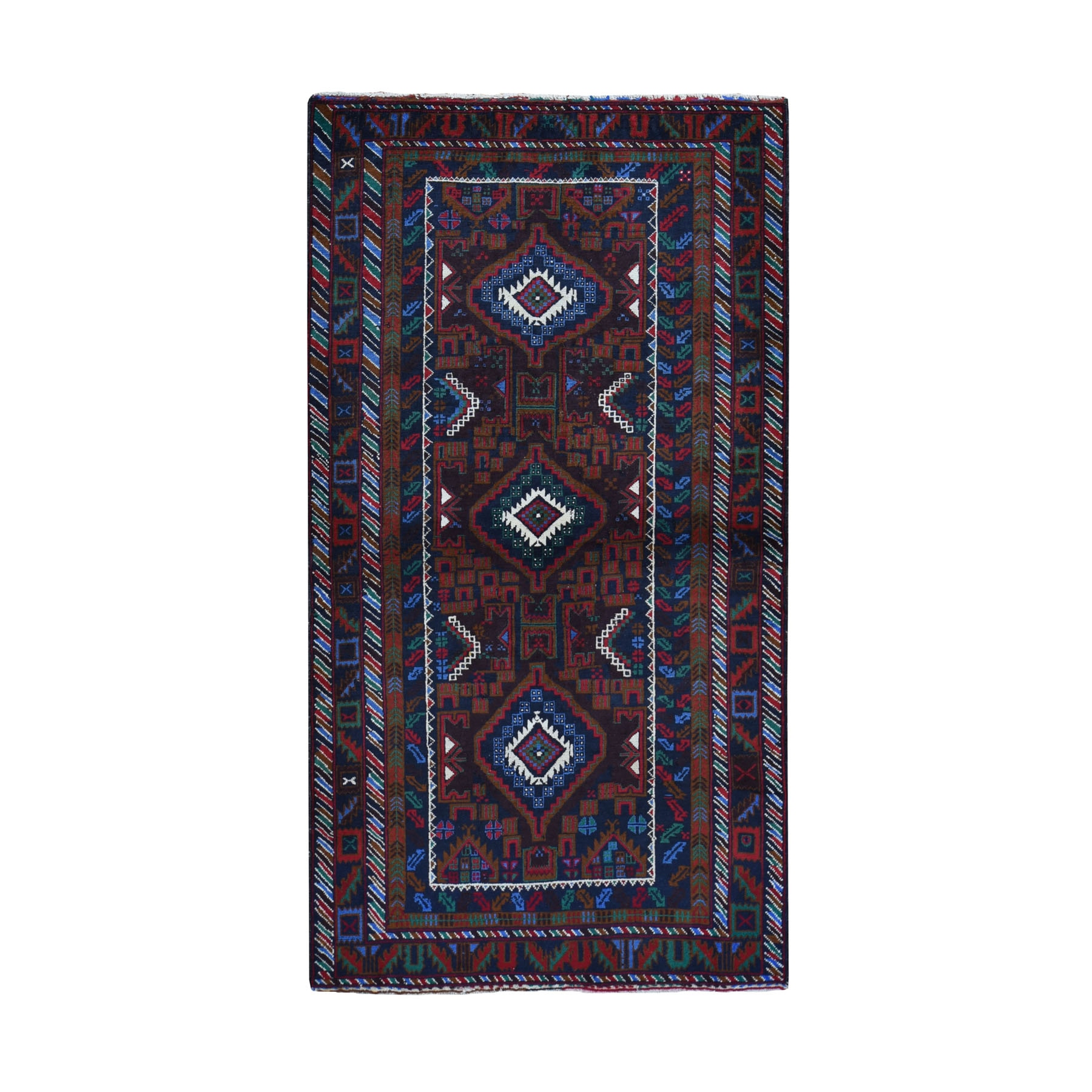Nomadic And Village Collection Hand Knotted Brown Rug No: 0199412