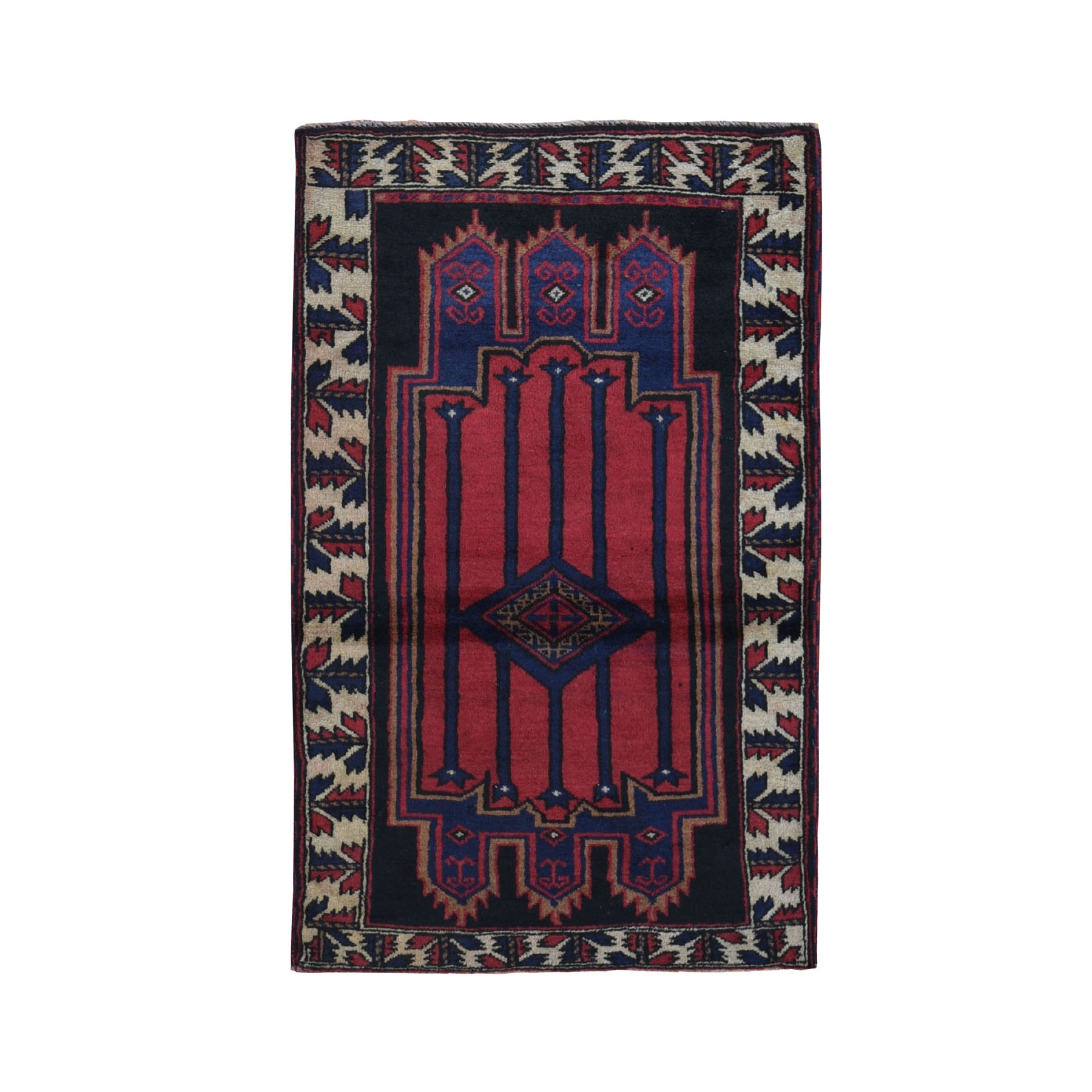 Nomadic And Village Collection Hand Knotted Red Rug No: 0199442