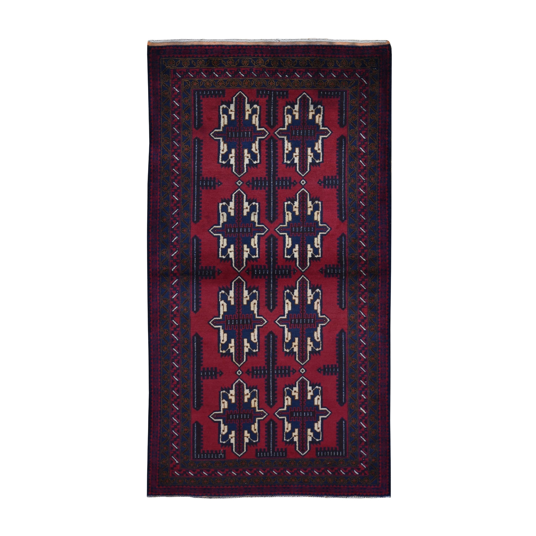 Nomadic And Village Collection Hand Knotted Red Rug No: 0199448