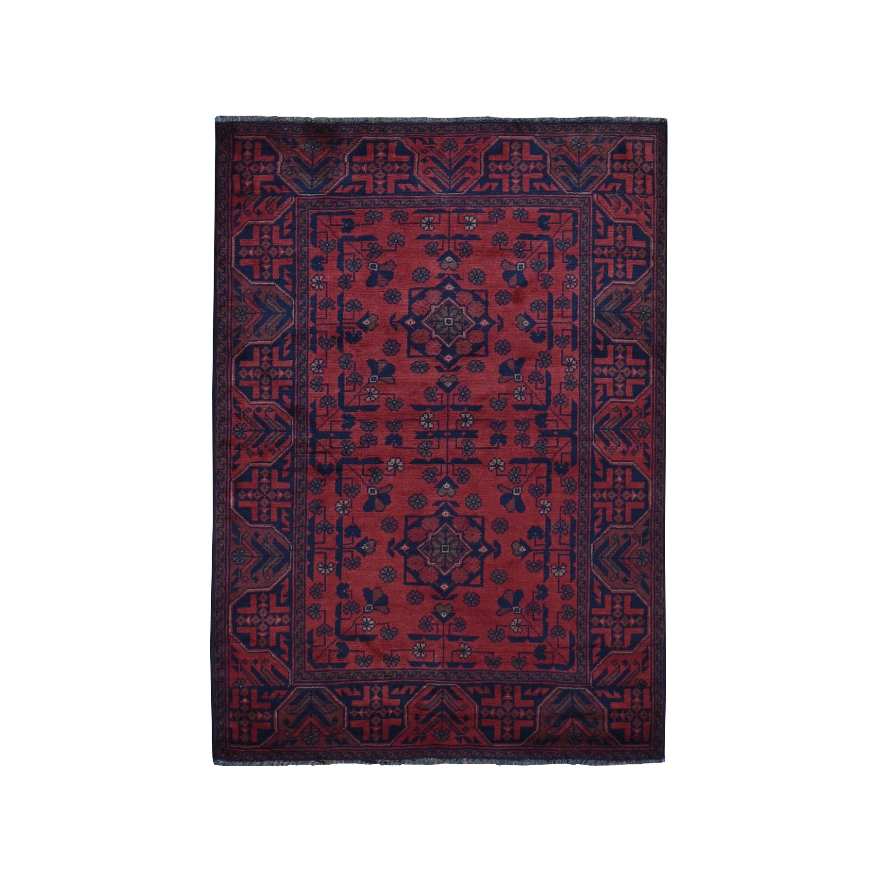 Nomadic And Village Collection Hand Knotted Red Rug No: 0199456