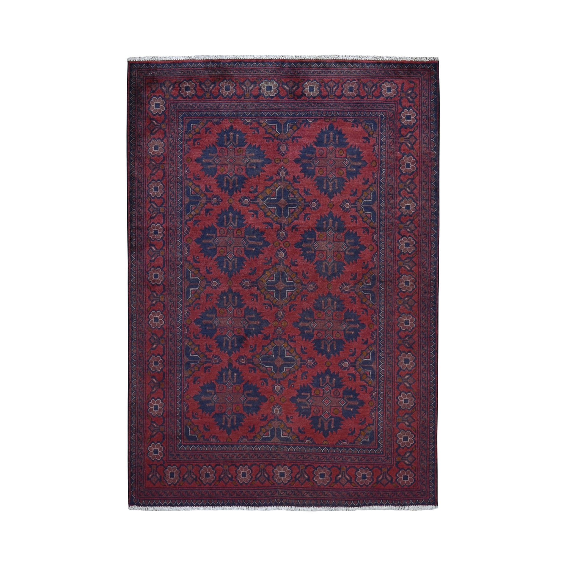 Nomadic And Village Collection Hand Knotted Red Rug No: 0199450