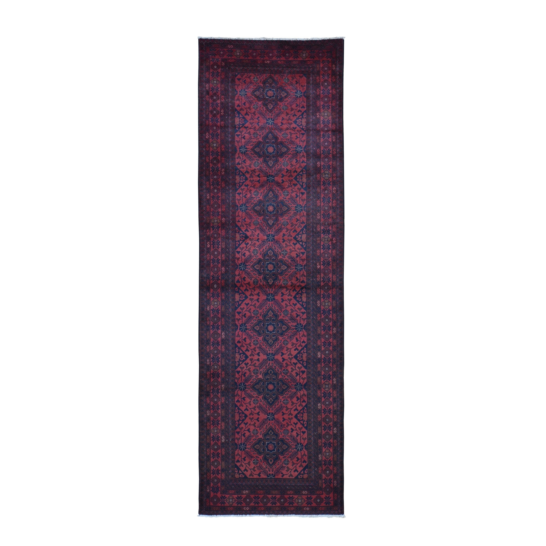Nomadic And Village Collection Hand Knotted Red Rug No: 0199462