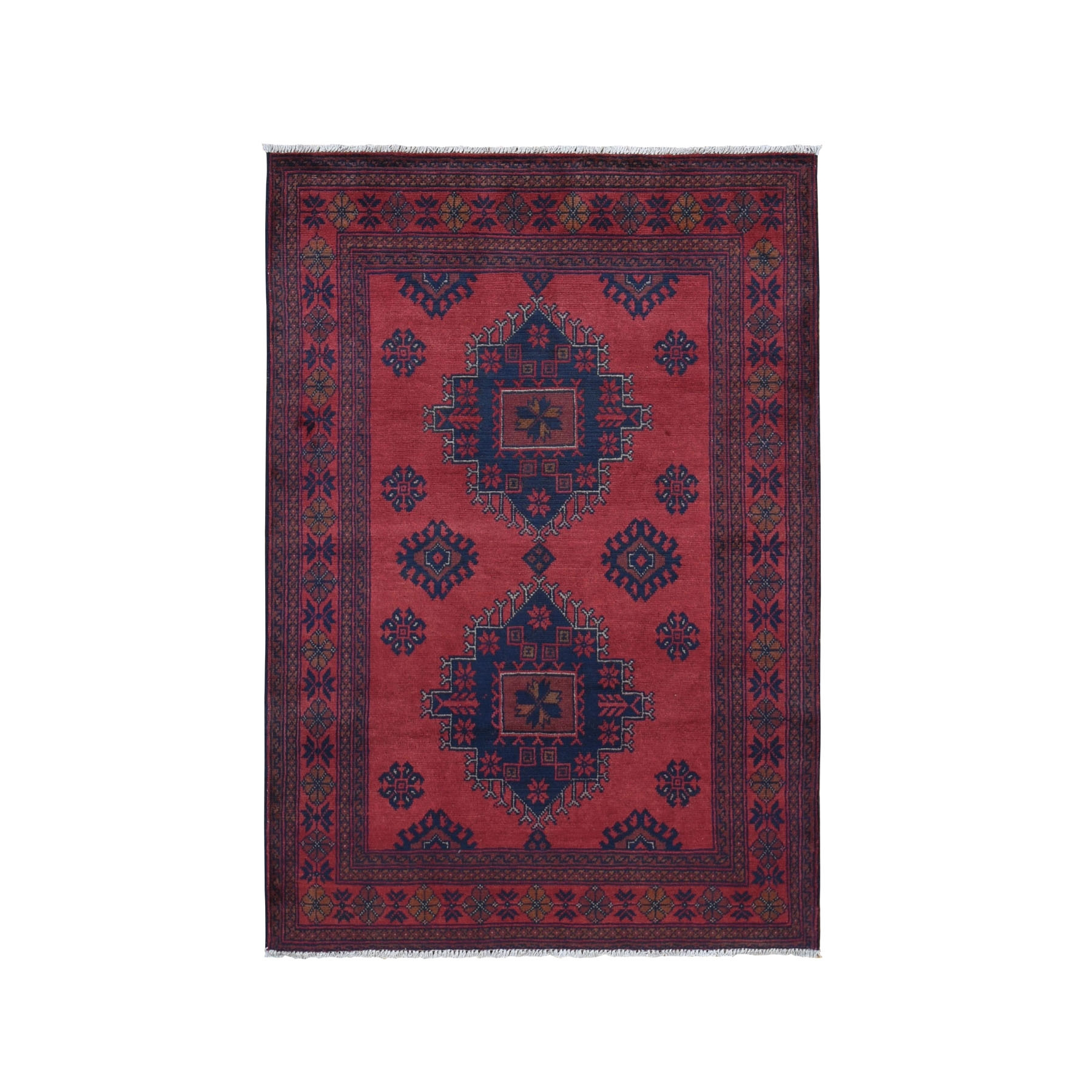 Nomadic And Village Collection Hand Knotted Red Rug No: 0199464