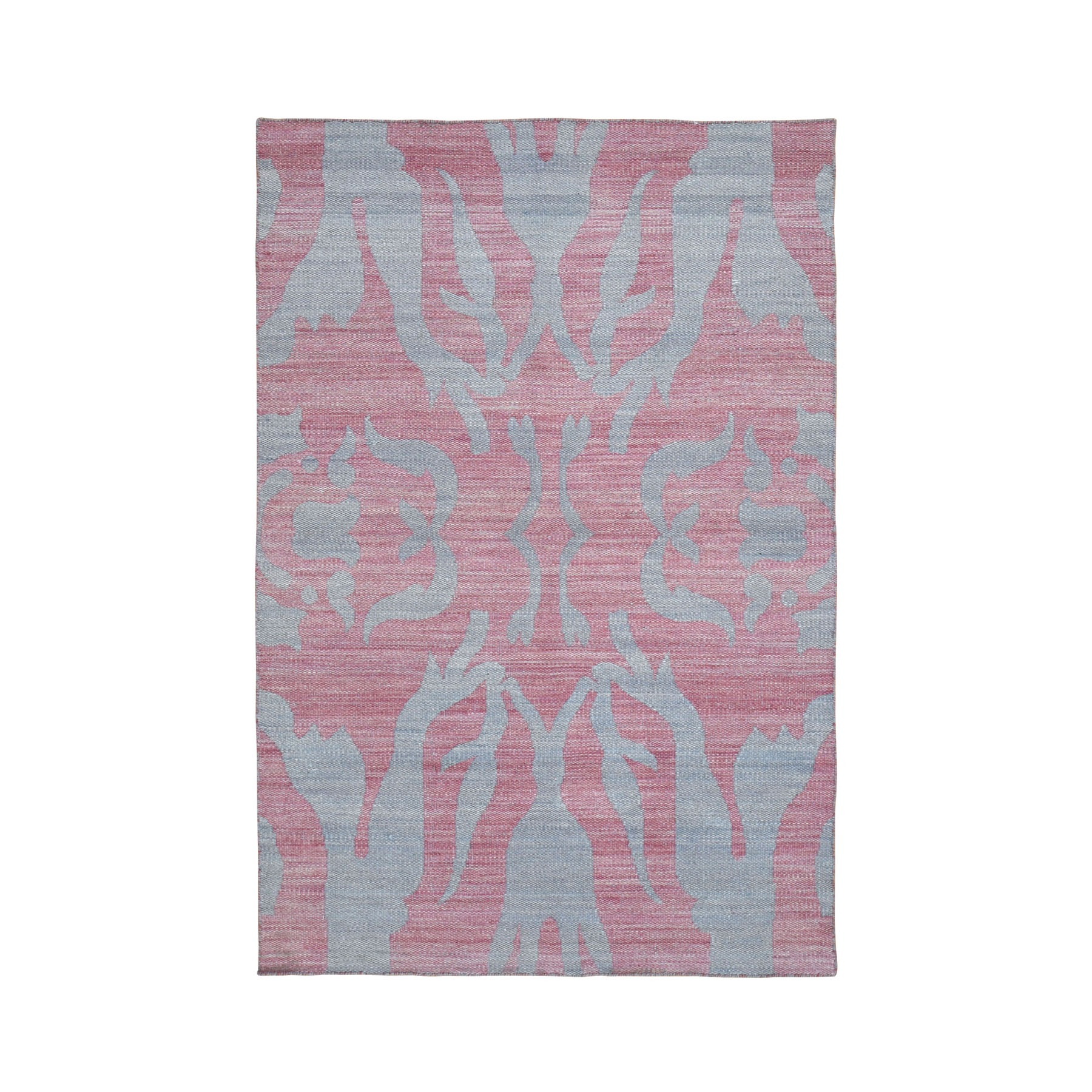 Fine Kilim Collection Hand Woven Pink Rug No: 0199480