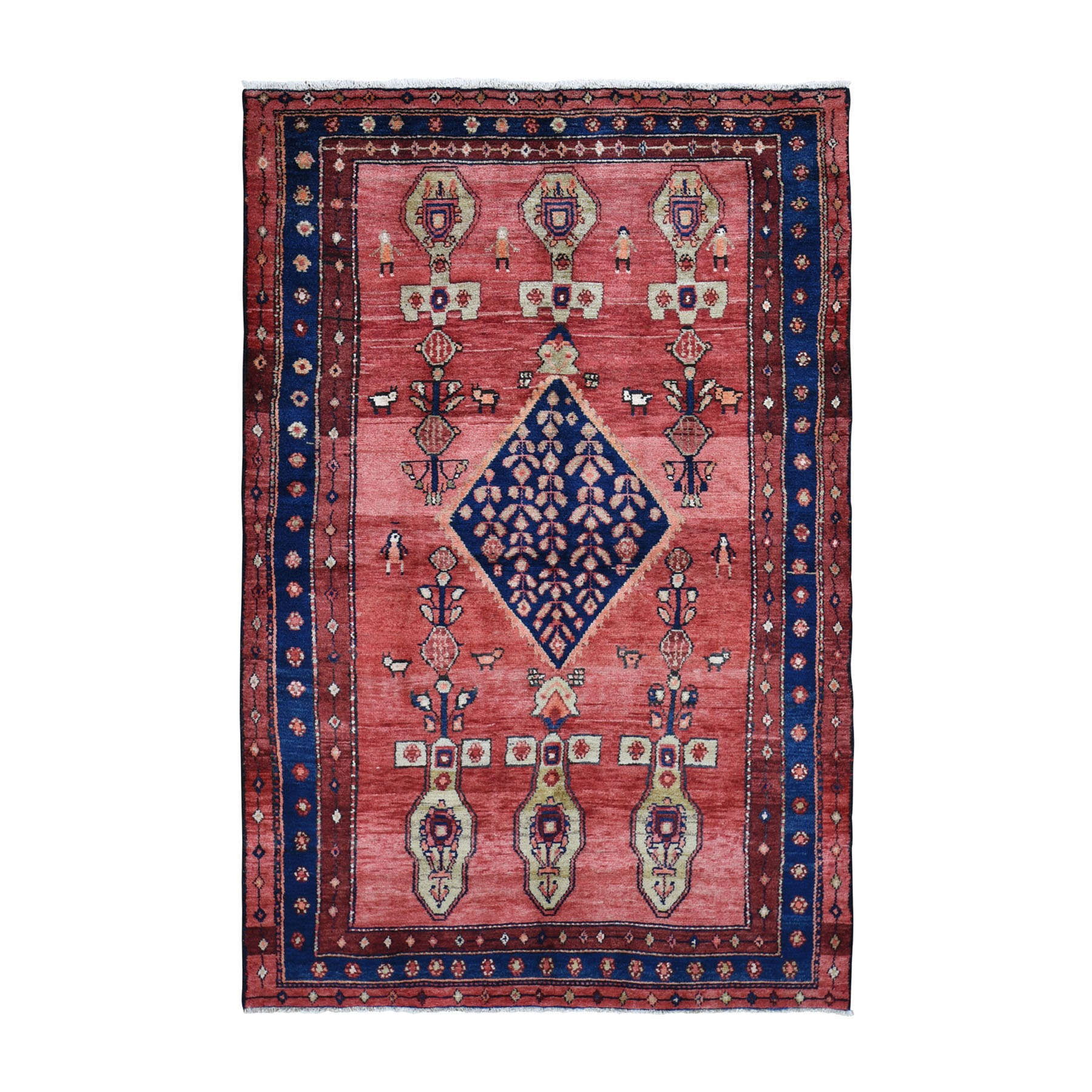 Classic Persian Collection Hand Knotted Red Rug No: 0199498