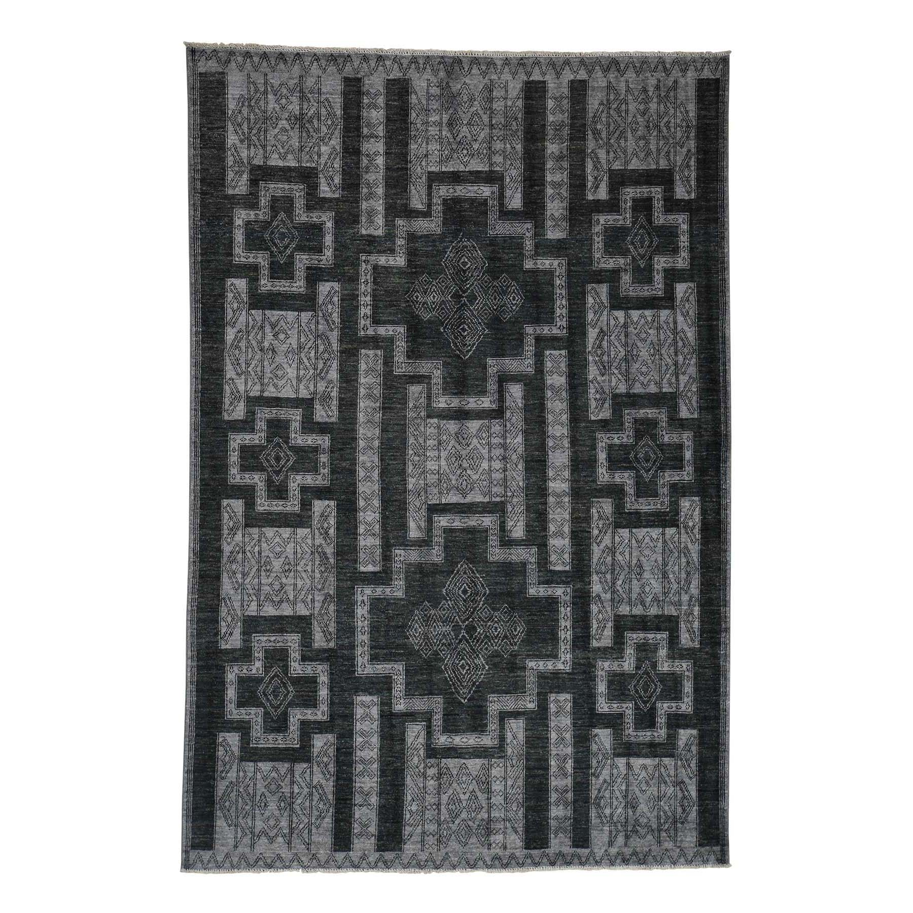 Agra And Turkish Collection Hand Knotted Grey Rug No: 0181298