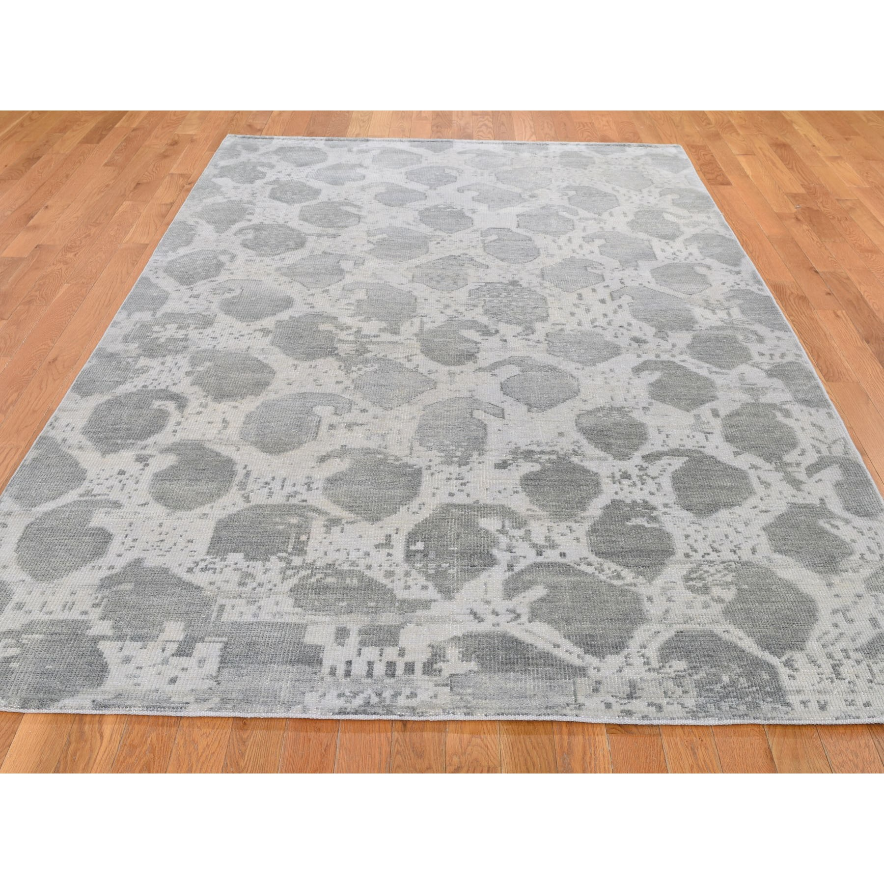Agra And Turkish Collection Hand Knotted Grey 0194890 Rug