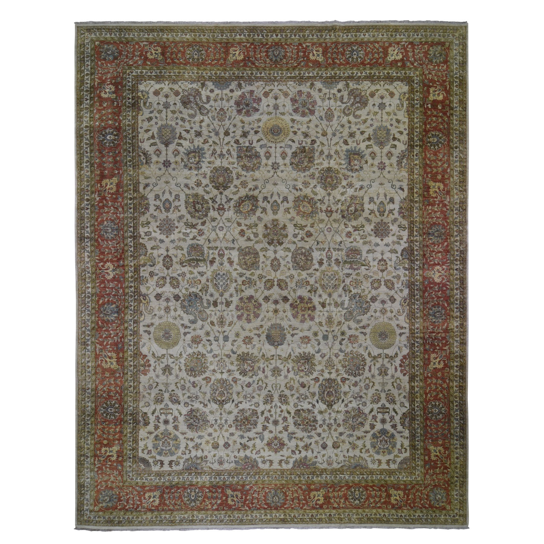Pirniakan Collection Hand Knotted Ivory Rug No: 0199536