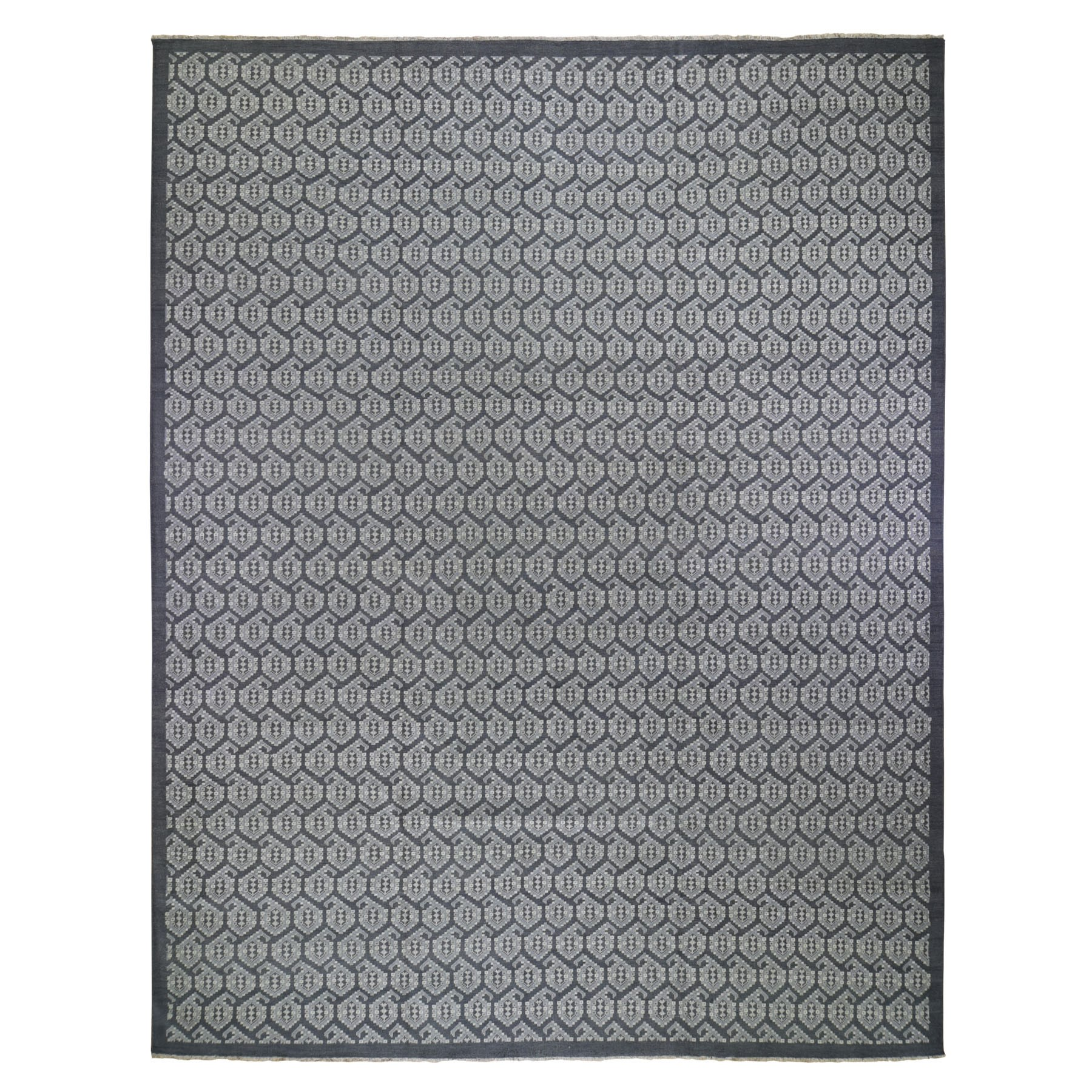 Agra And Turkish Collection Hand Knotted Grey Rug No: 199540