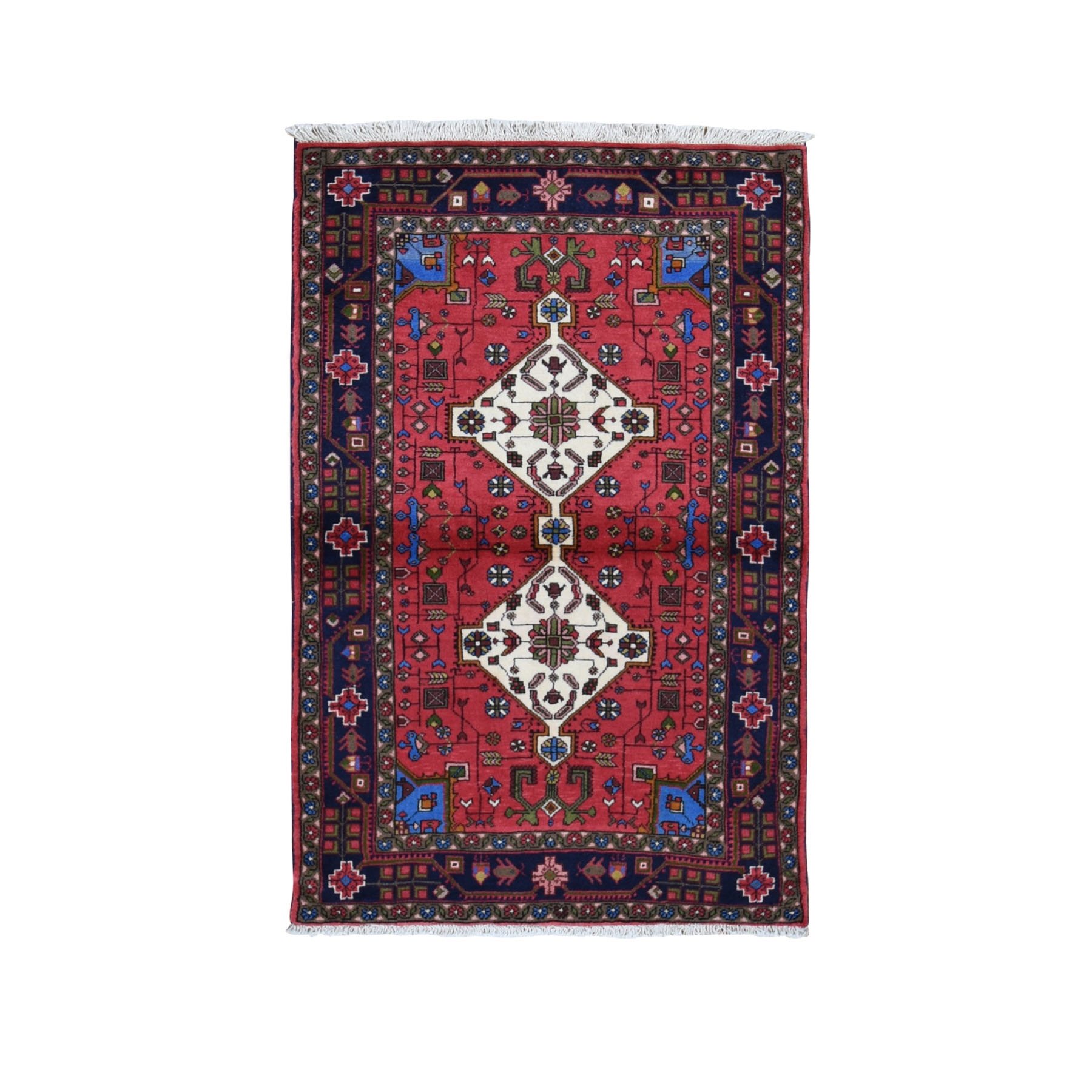 Classic Persian Collection Hand Knotted Red Rug No: 0199618