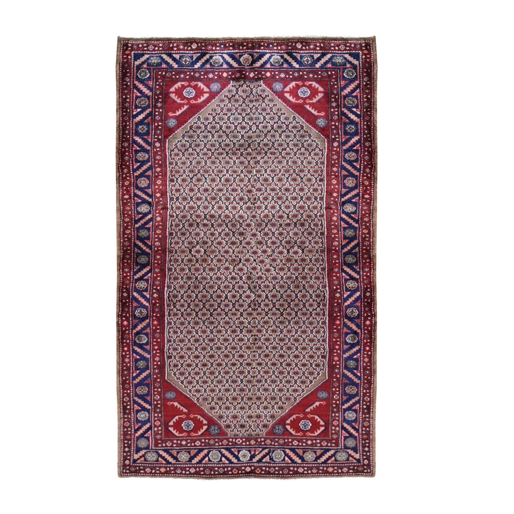 Classic Persian Collection Hand Knotted Brown Rug No: 199598