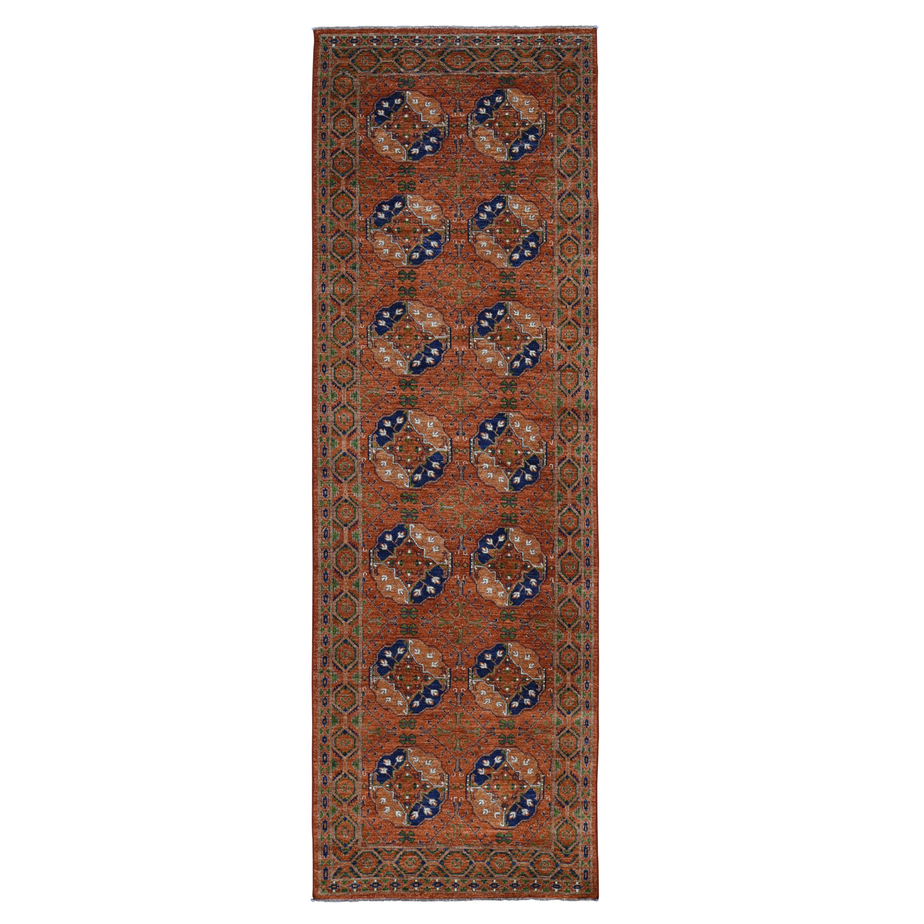 Nomadic And Village Collection Hand Knotted Orange Rug No: 199638
