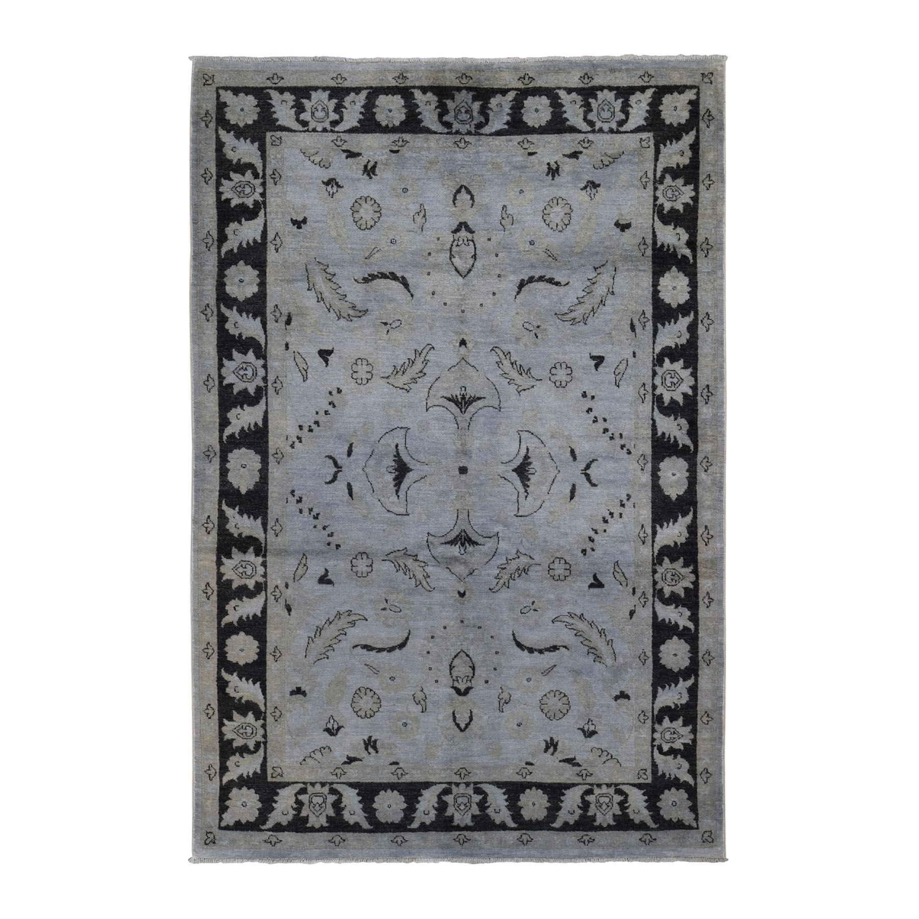 Deep discounted Collection Hand Knotted Grey Rug No: 0199292