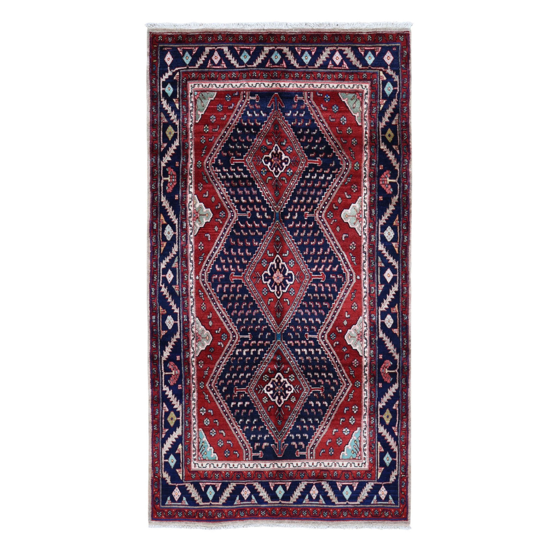Classic Persian Collection Hand Knotted Red Rug No: 0199654
