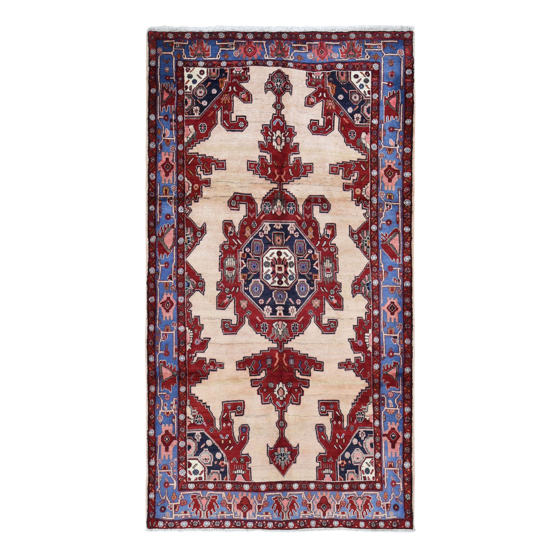 Classic Persian Collection Hand Knotted Beige Rug No: 0199660