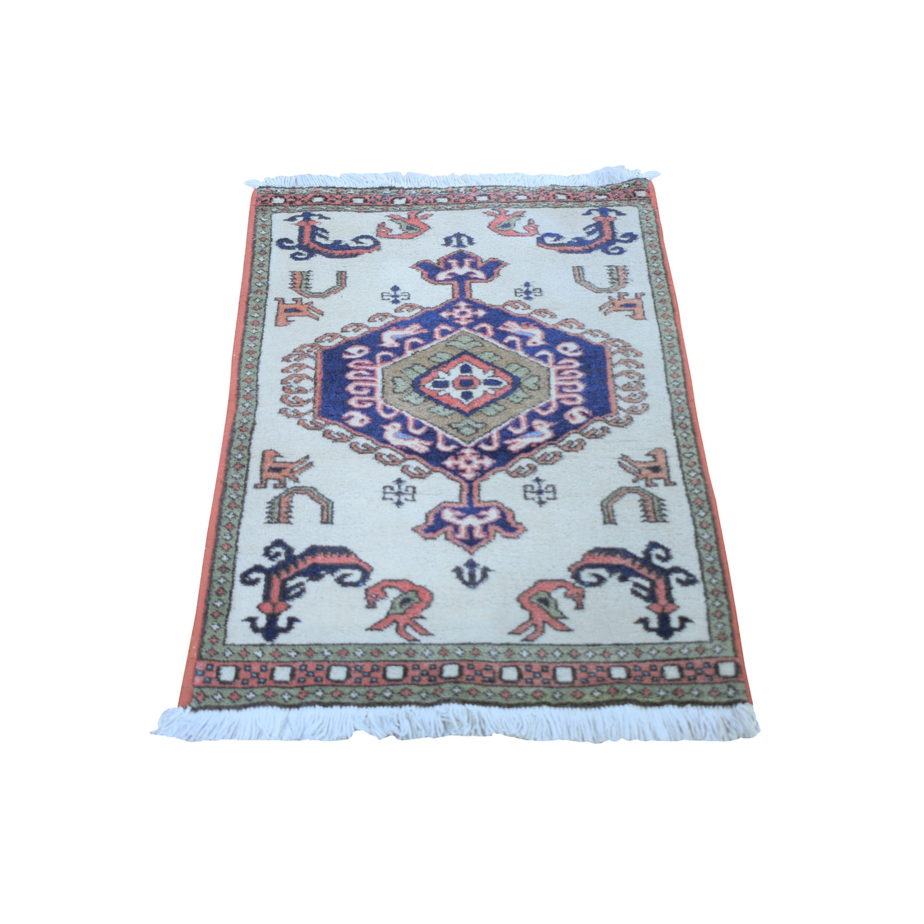 Classic Persian Collection Hand Knotted Ivory Rug No: 0199676
