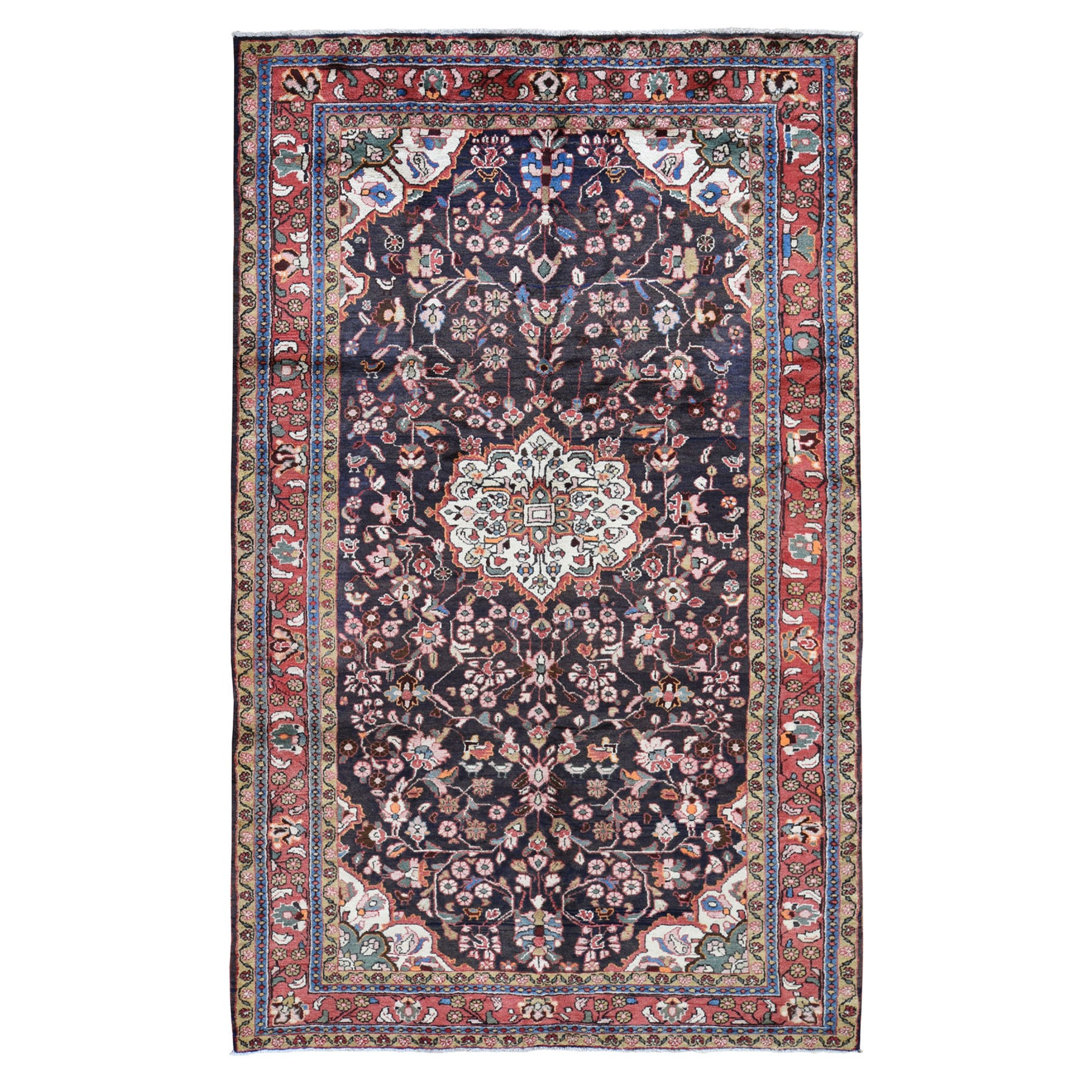 Classic Persian Collection Hand Knotted Blue Rug No: 195012