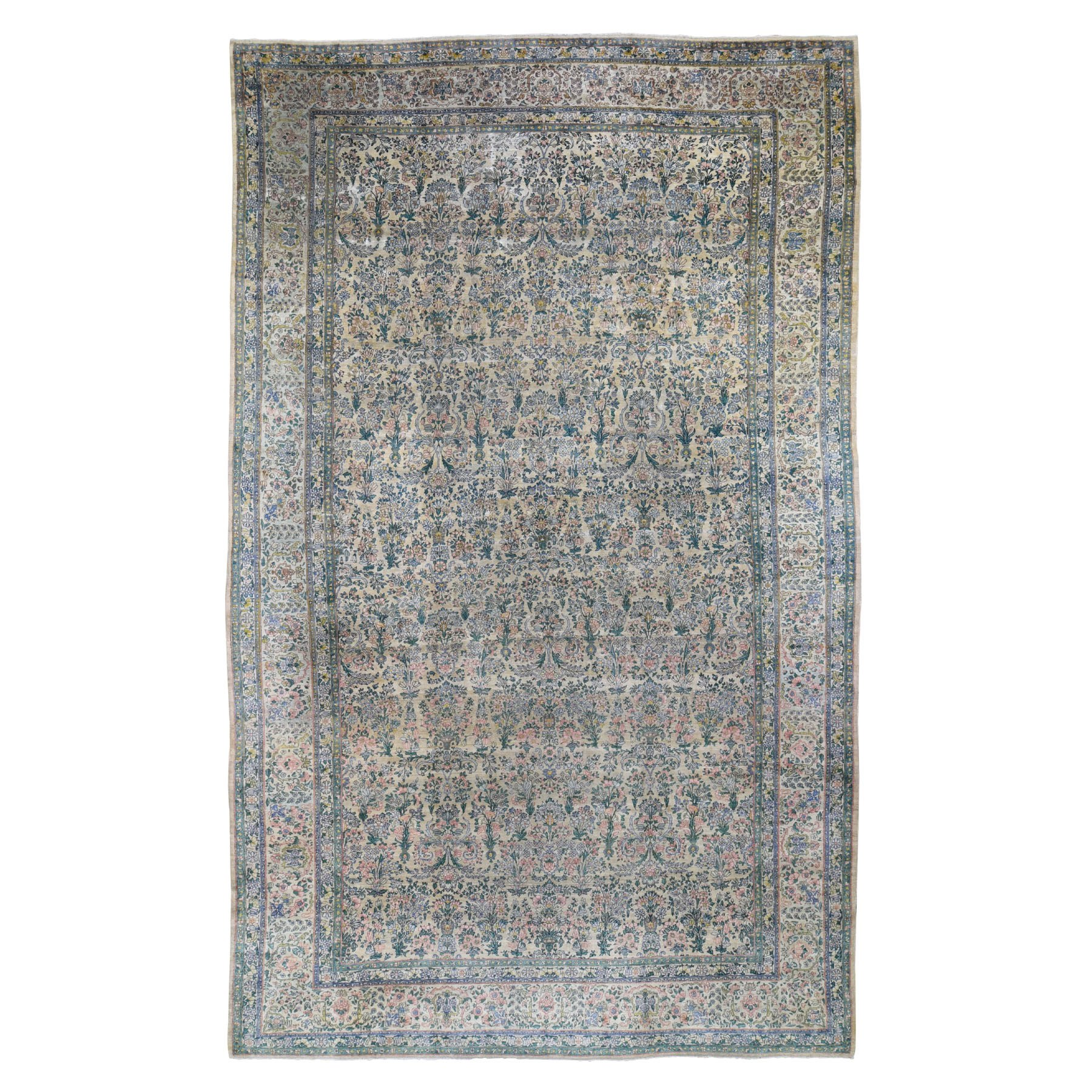 Antique Collection Hand Knotted Beige Rug No: 196920