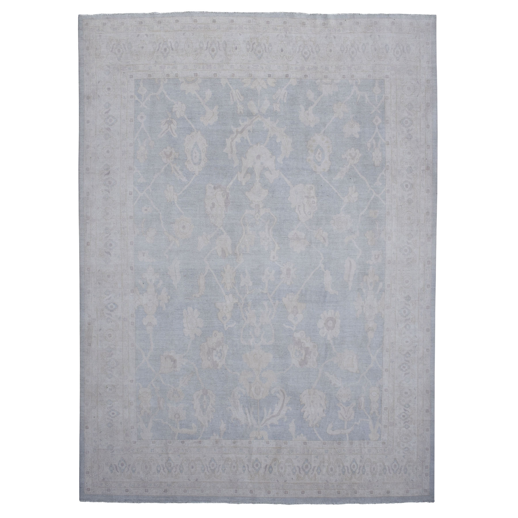 Agra And Turkish Collection Hand Knotted Grey Rug No: 1109182