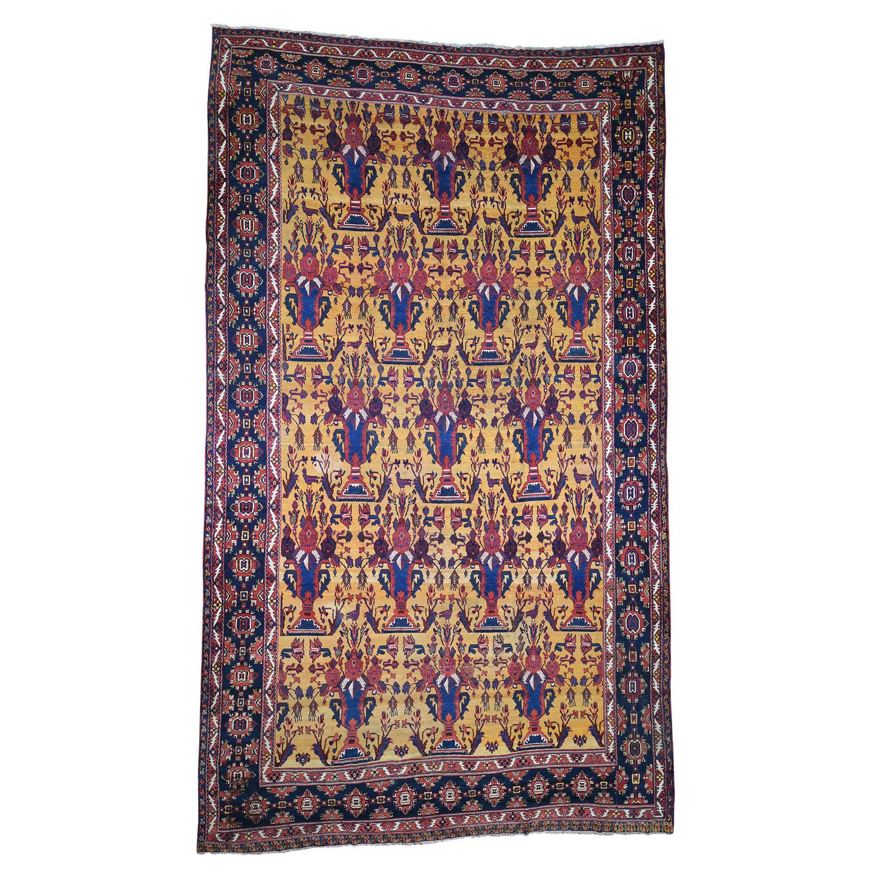 Antique Collection Hand Knotted Yellow Rug No: 189744