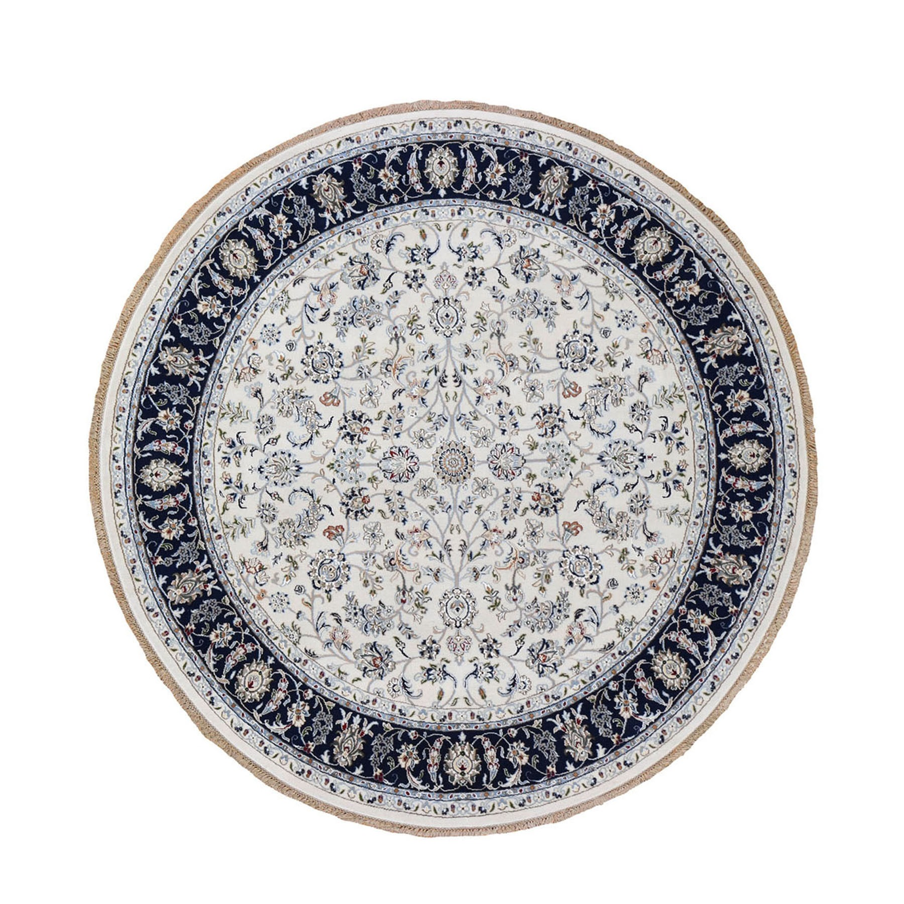 Pirniakan Collection Hand Knotted Ivory Rug No: 0199986