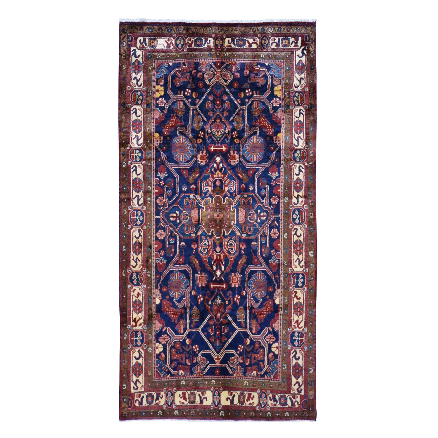 Classic Persian Collection Hand Knotted Blue Rug No: 199836