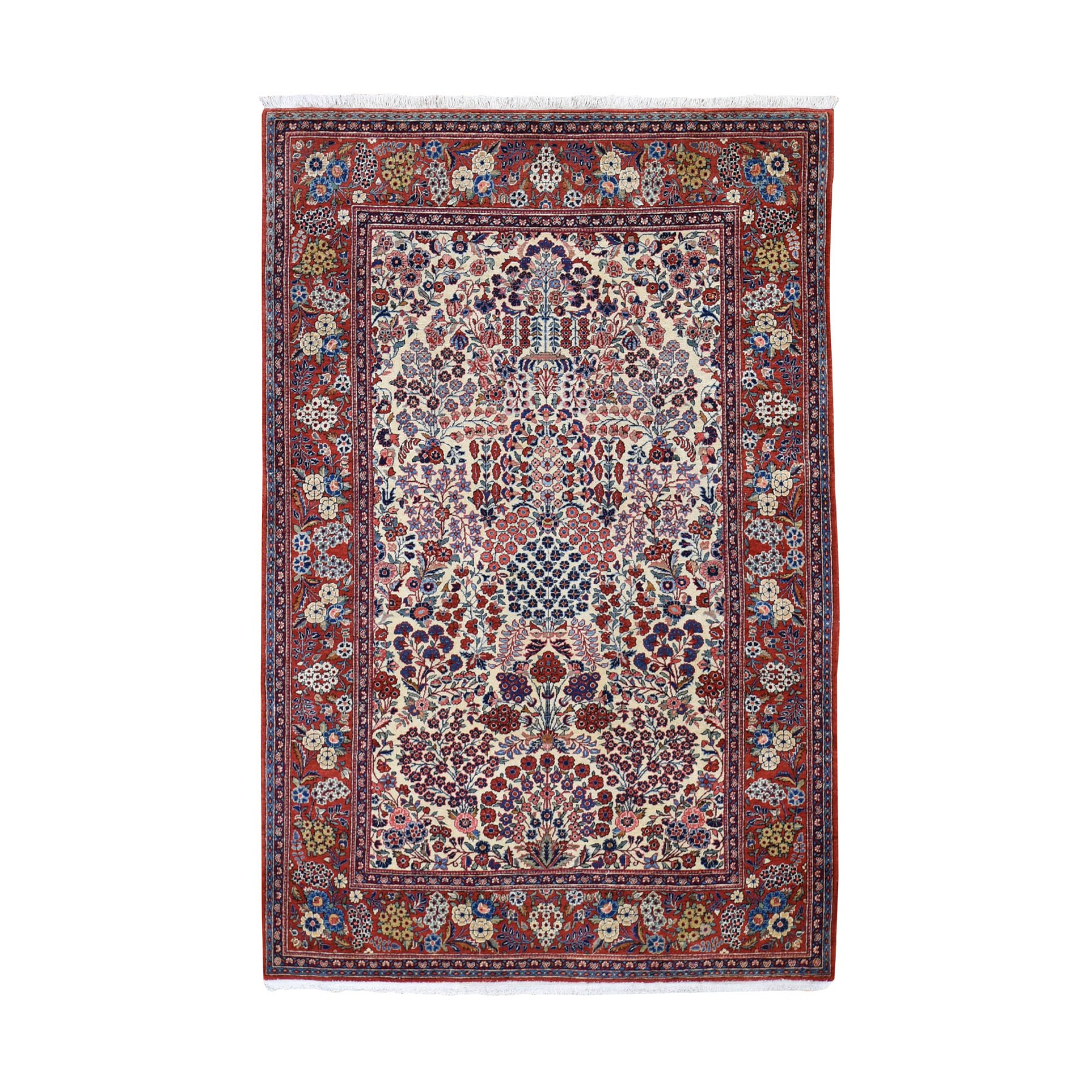 Antique Collection Hand Knotted Beige Rug No: 0197396