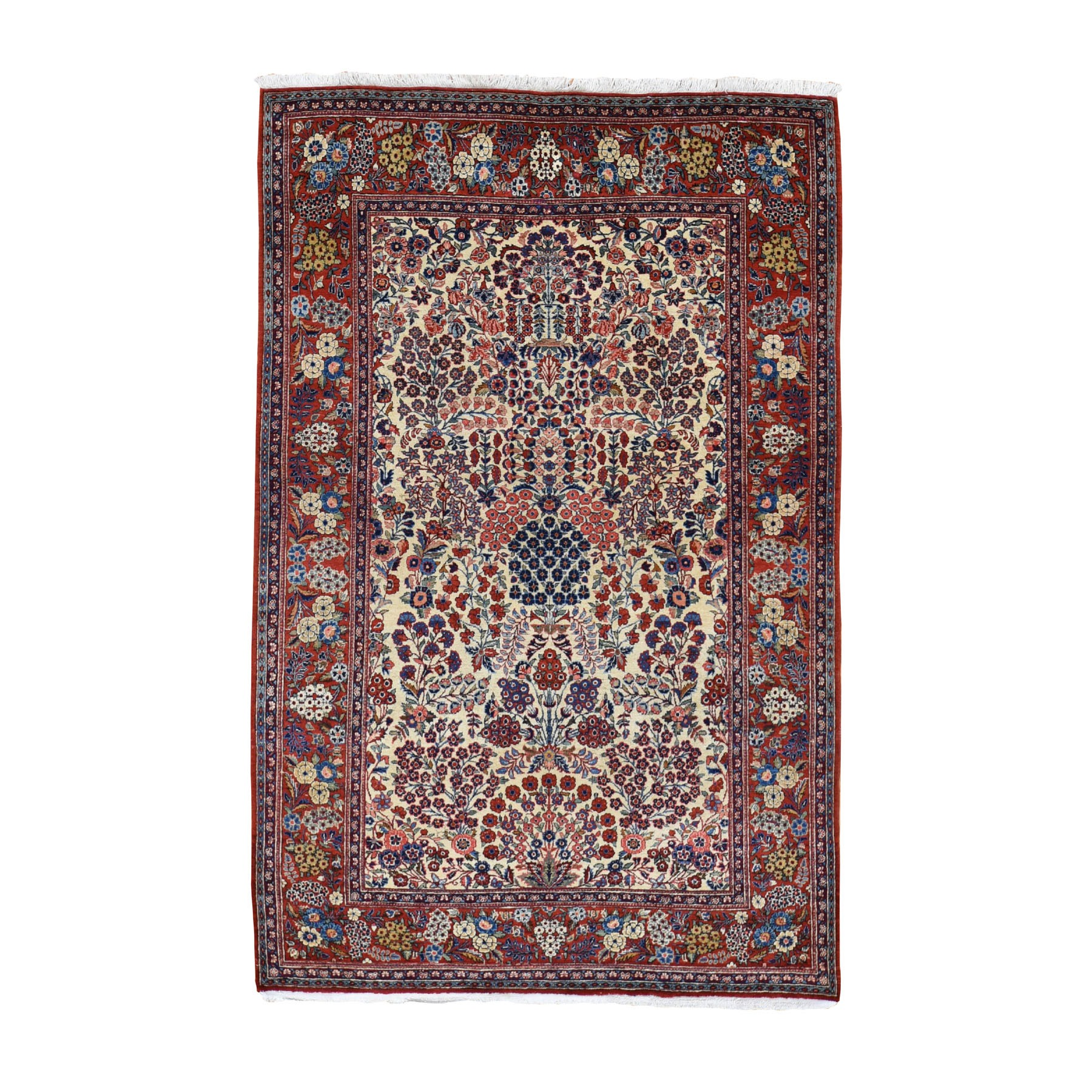 Antique Collection Hand Knotted Beige Rug No: 0197402