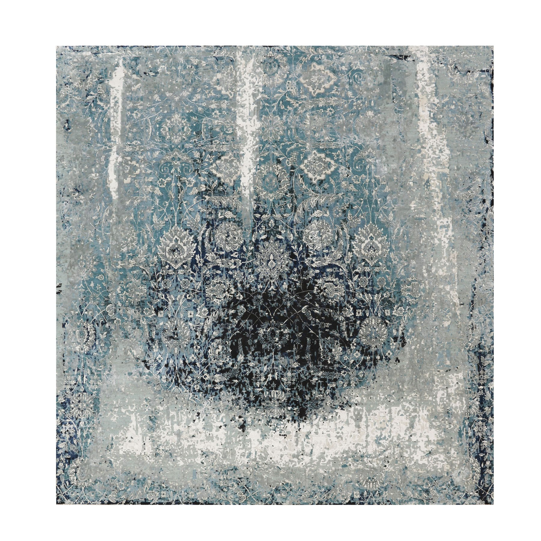 Transitional Hand Knotted Blue Rug No: 1116032