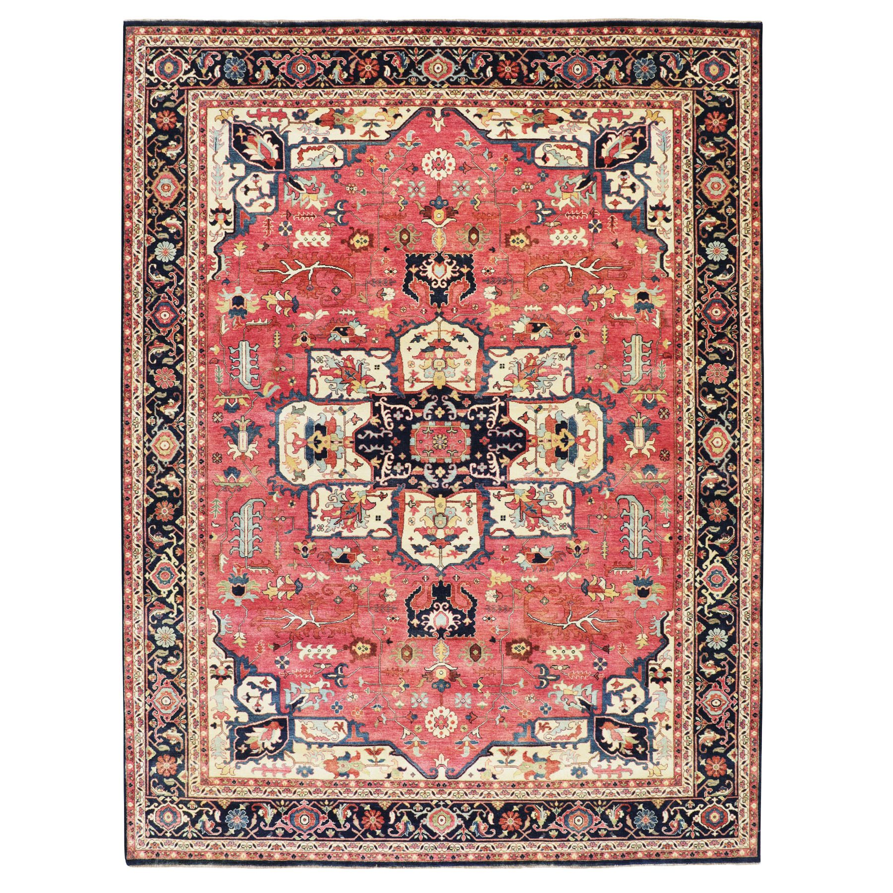 Serapi Heriz and Bakhshayesh Collection Hand Knotted Red Rug No: 1116112