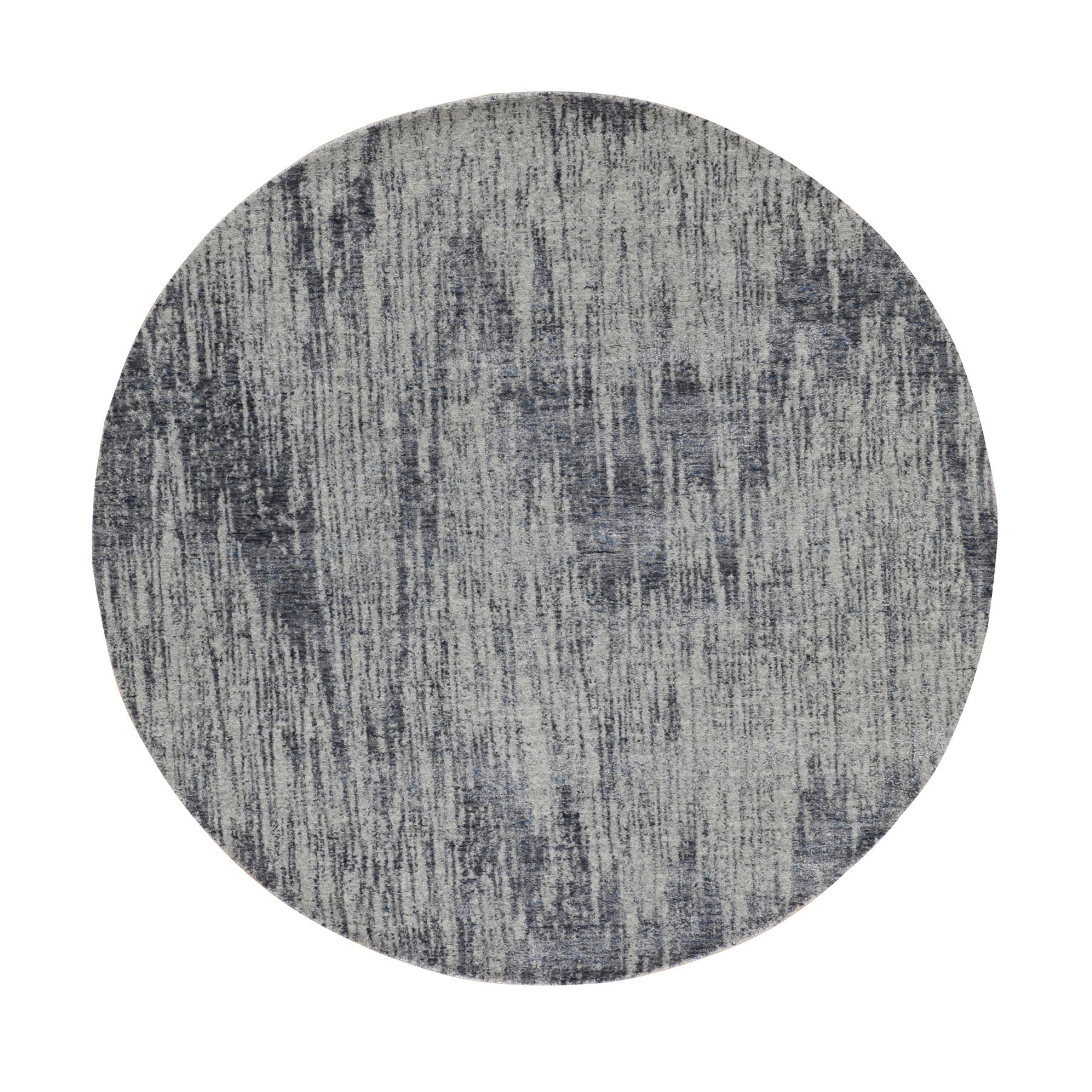 Mid Century Modern Collection Hand Loomed Grey Rug No: 1116244