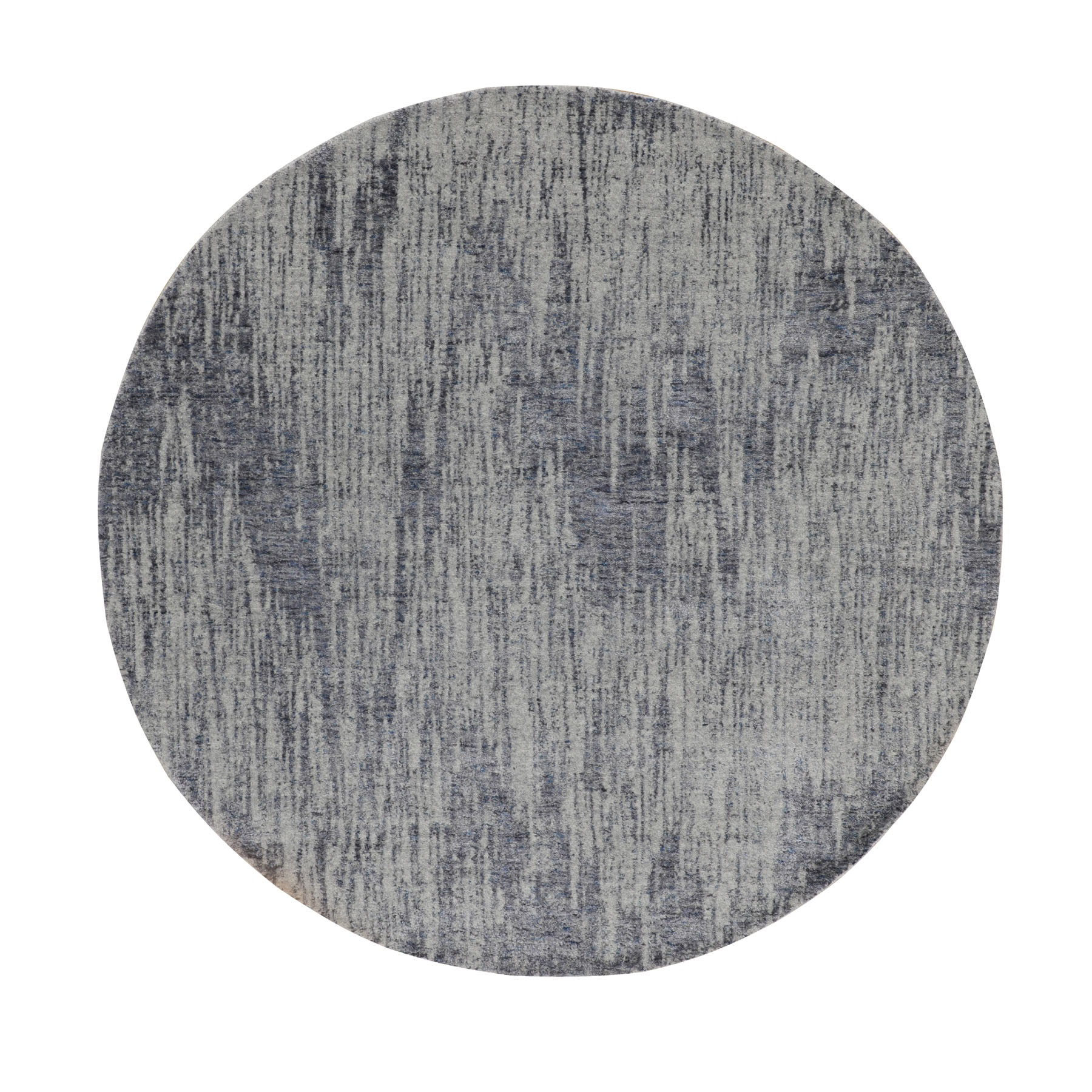 Mid Century Modern Collection Hand Loomed Grey Rug No: 1116248