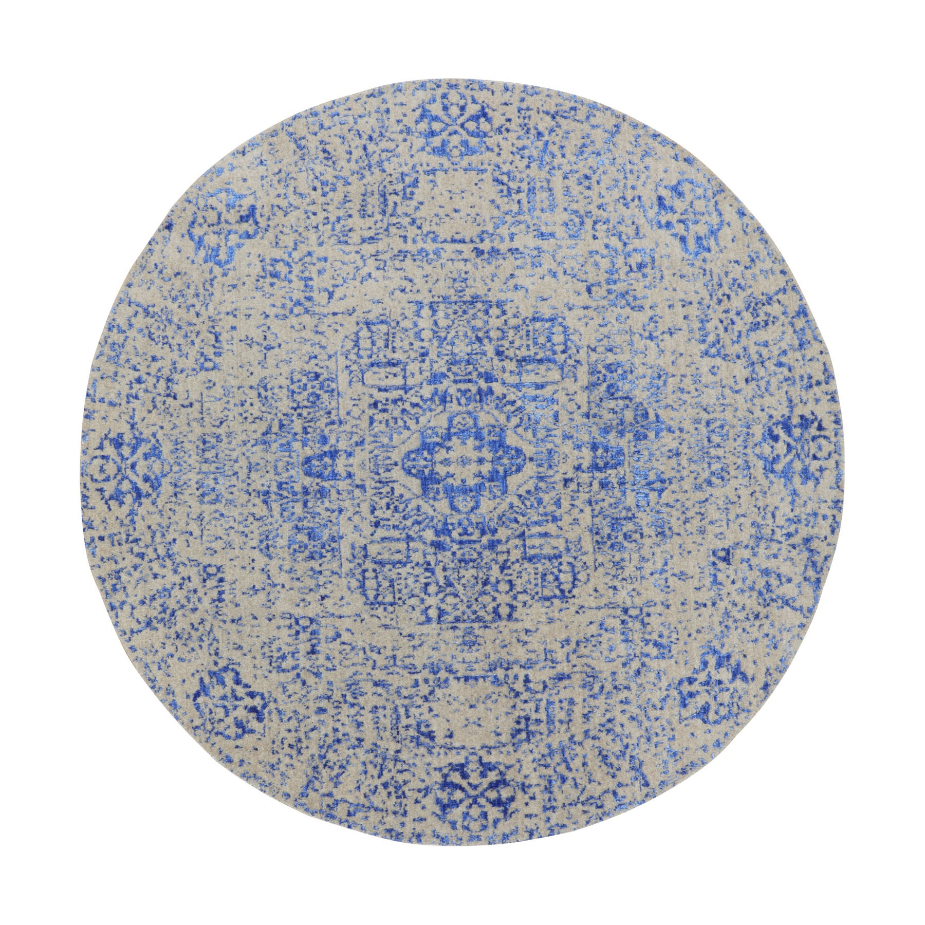Intricate Collection Hand Loomed Blue Rug No: 01116246