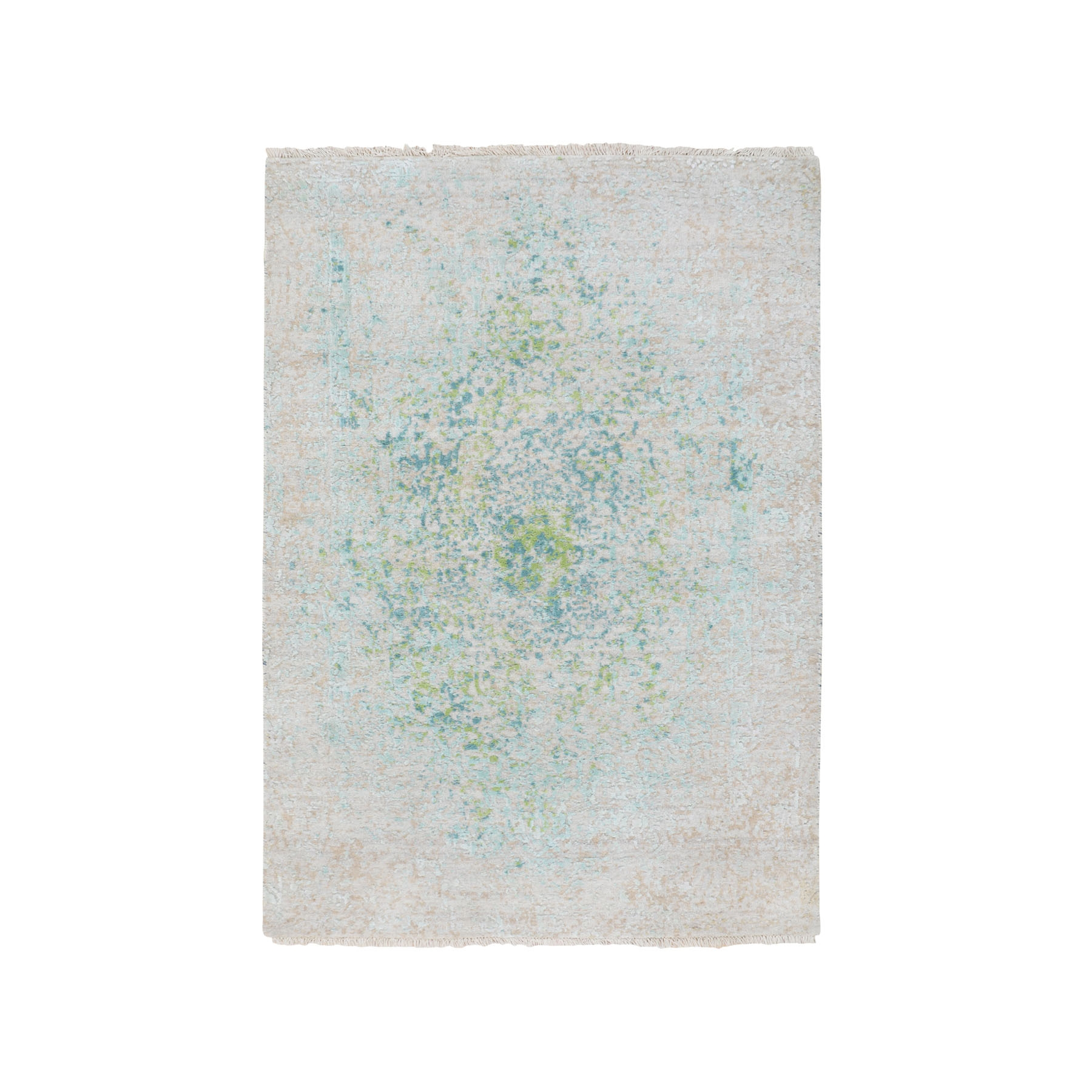 Real Silk Collection Hand Knotted Ivory Rug No: 01116206