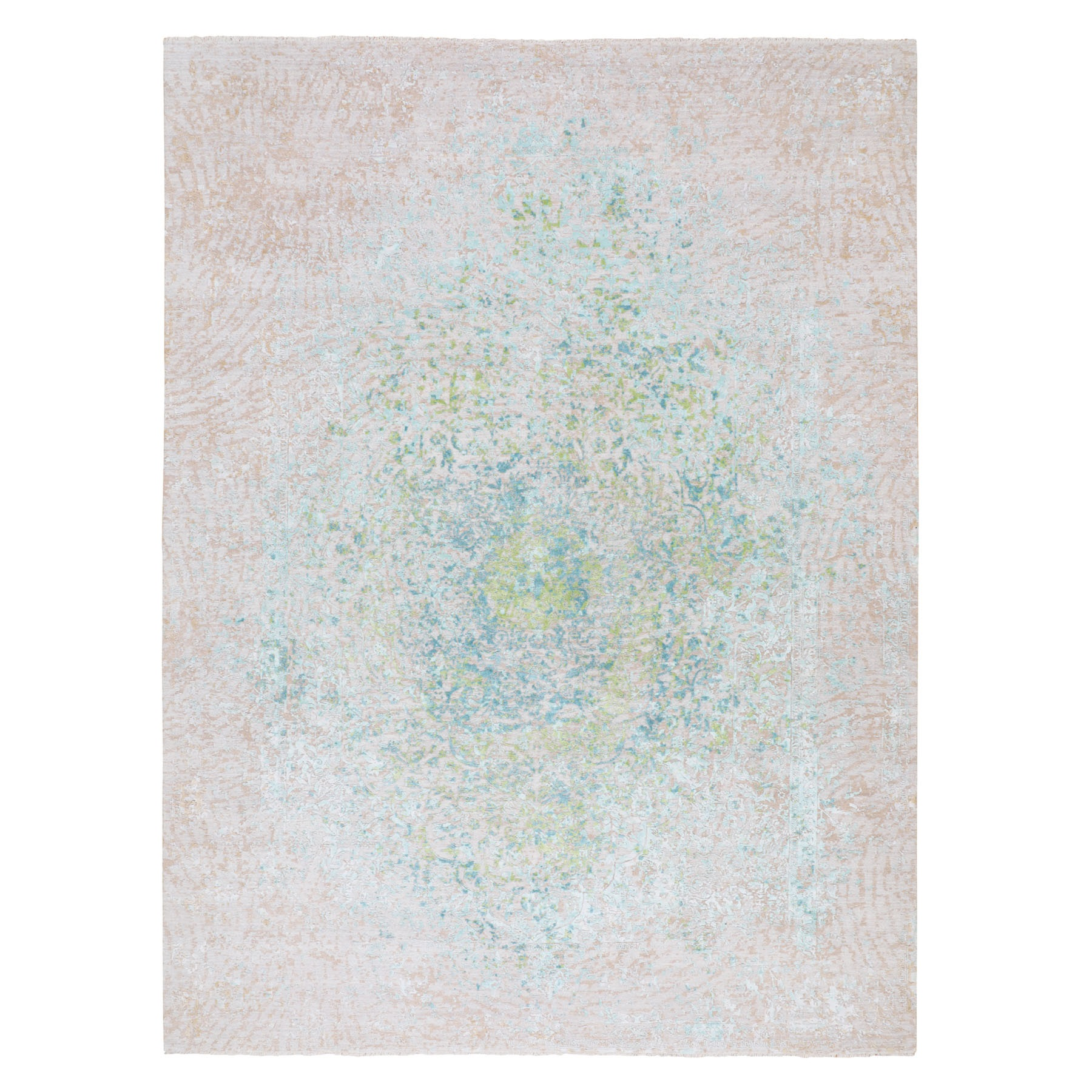 Real Silk Collection Hand Knotted Ivory Rug No: 01116228